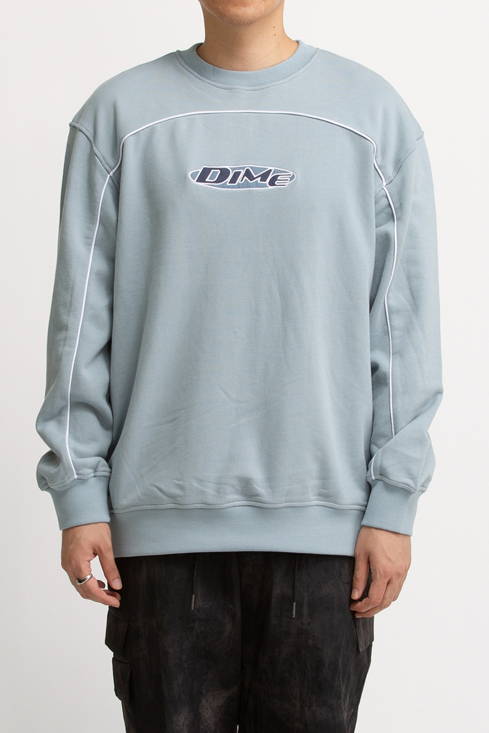 PIPING CREWNECK LIGHT BLUE