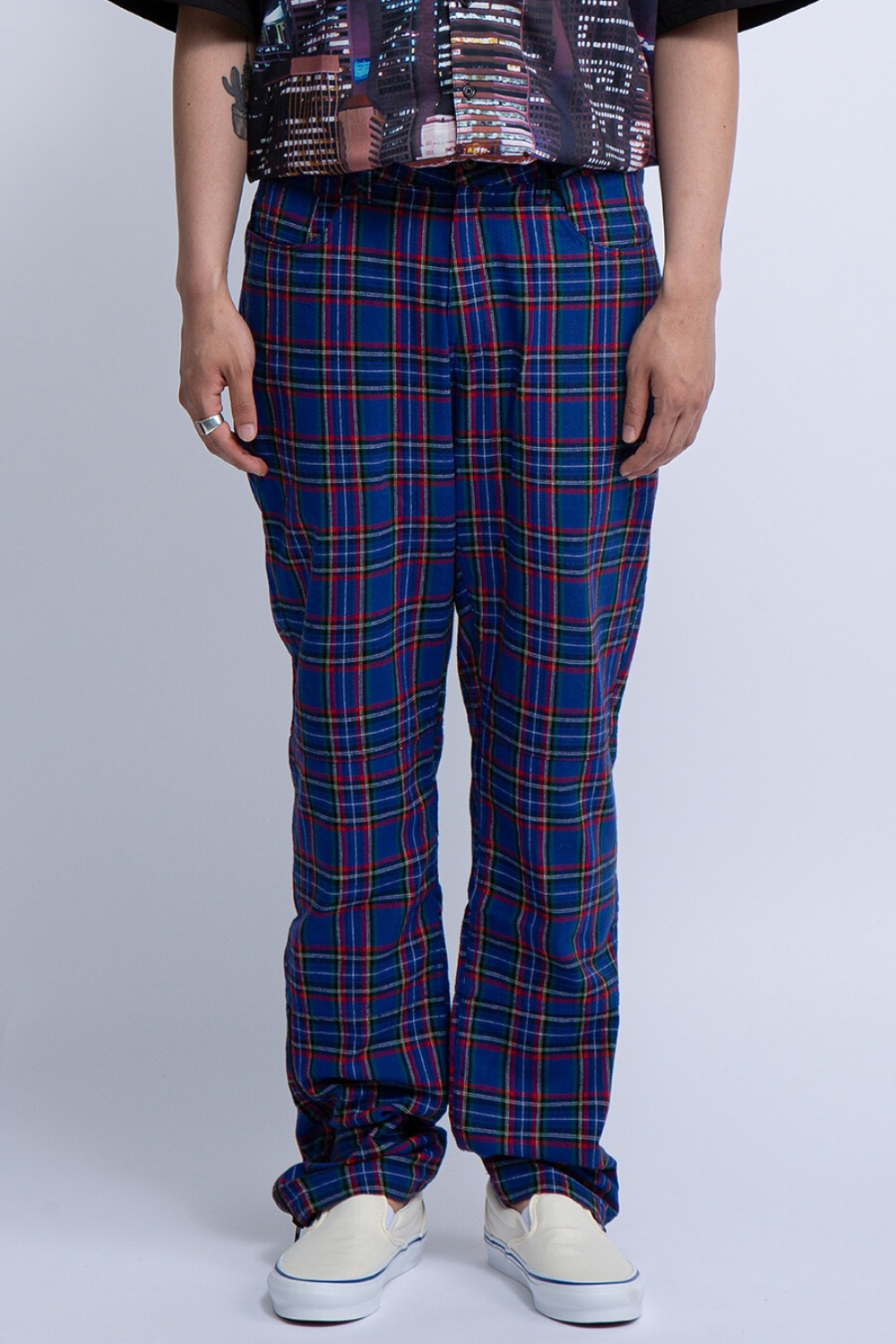 RESET PLAID PANTS BLUE
