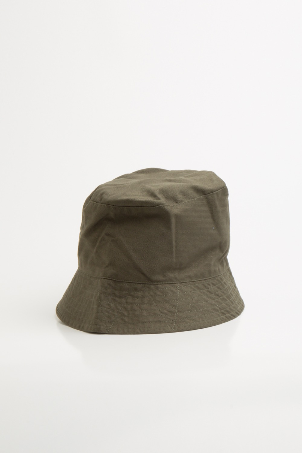BUCKET HAT OLIVE COTTON HERRINBONE