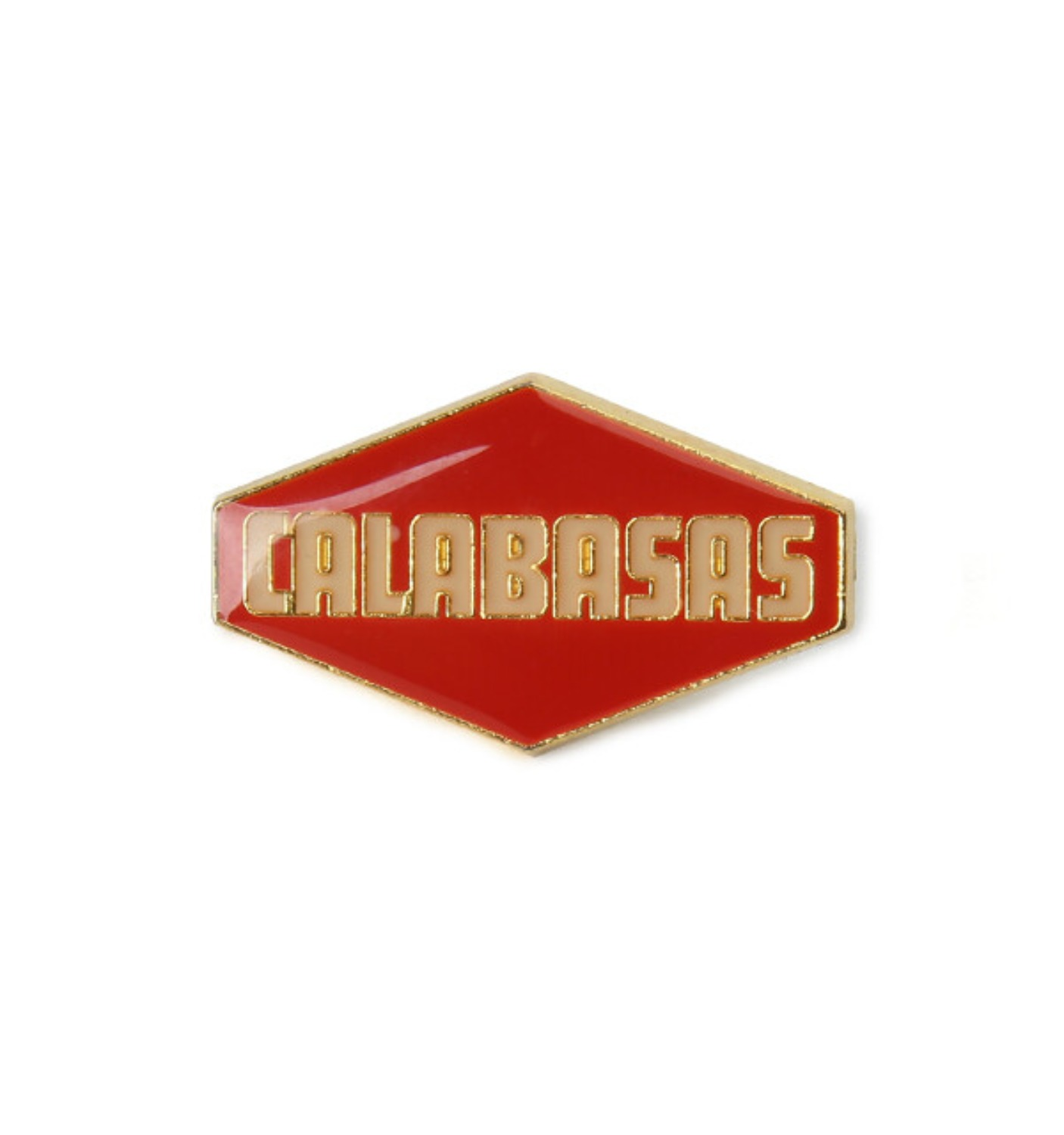 Adidas Calabasas Enamel Pin Red Gold