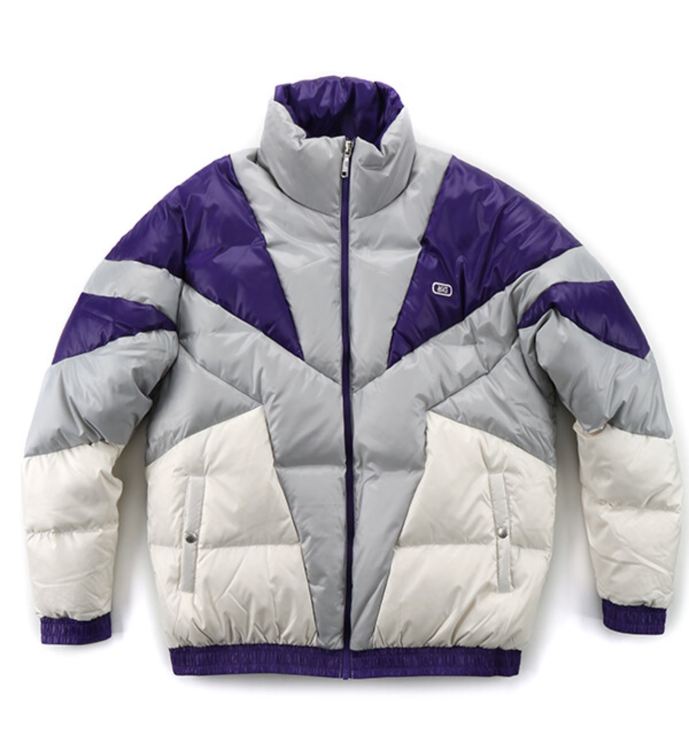 ASICS TIGER DOWN JACKET PURPLE/GREY