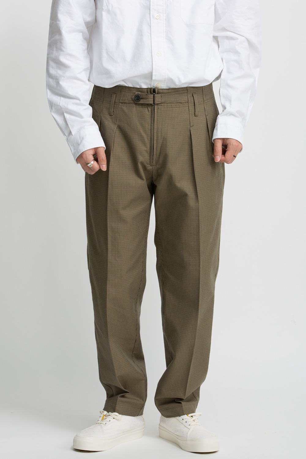 EXPLORER PANTS / BEIGE GUNCLUB CHECK