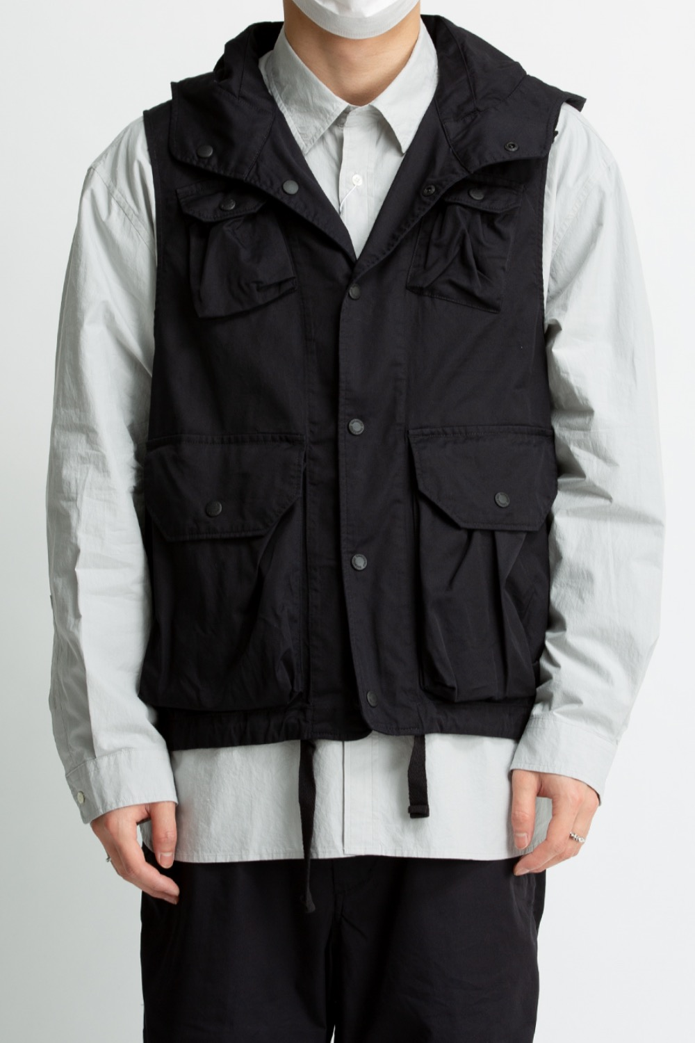 FIELD VEST BLACK HIGH COUNT TWILL