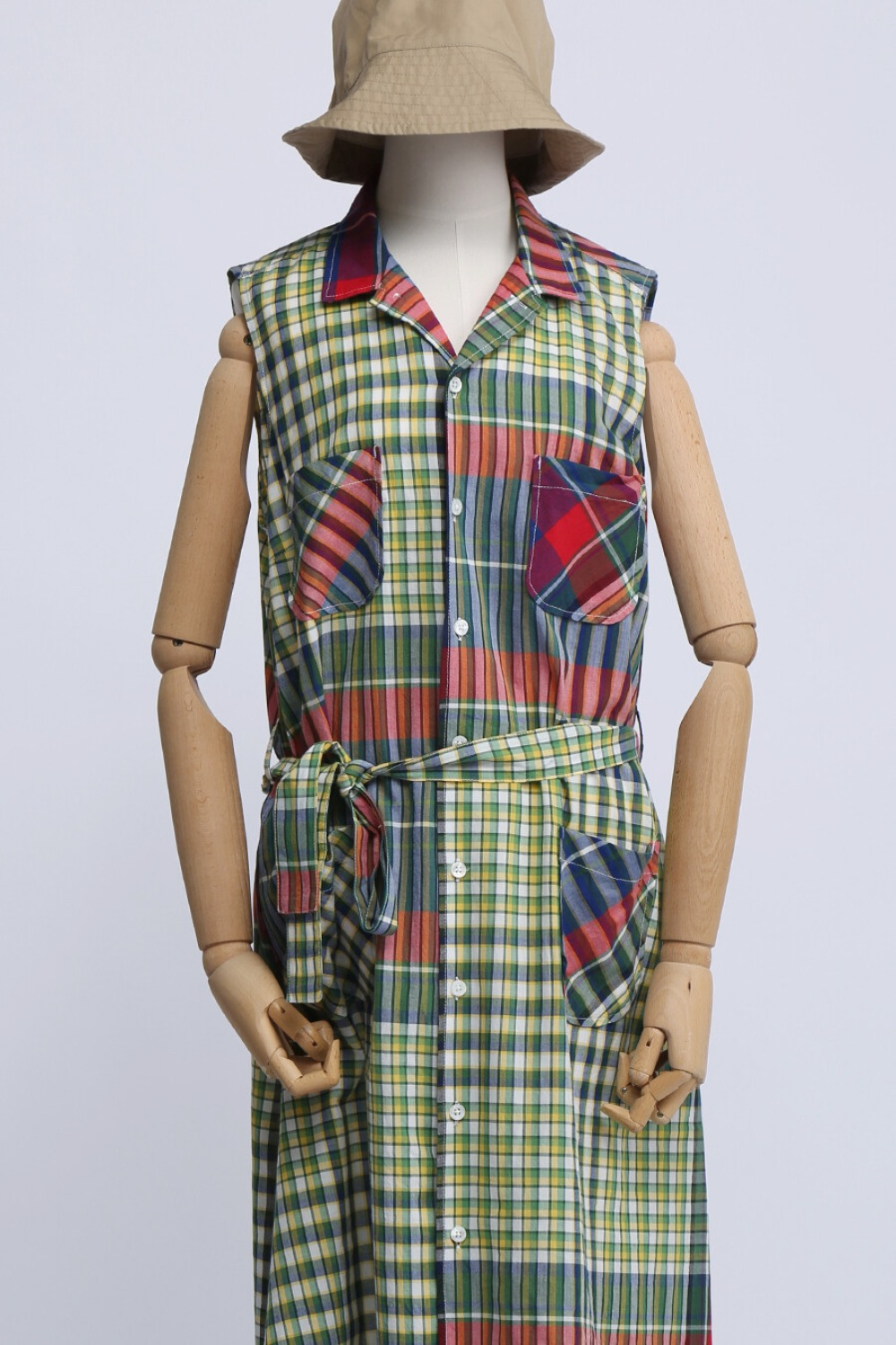 FWK CLASSIC DRESS RED BLUE GREEN BIG MADRAS PLAID
