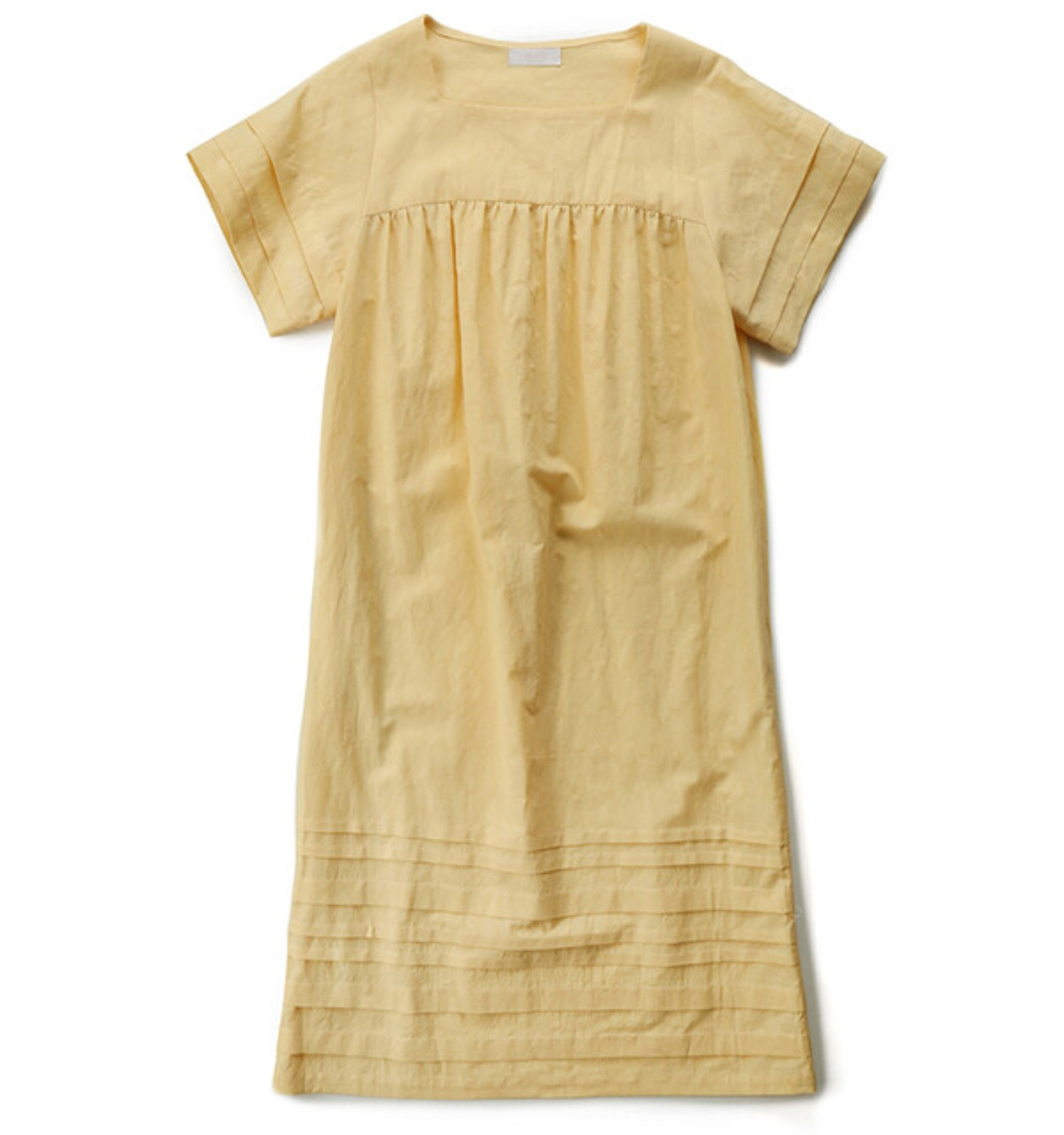 CONTE PINTUCK DRESS LEMON JACQUARD