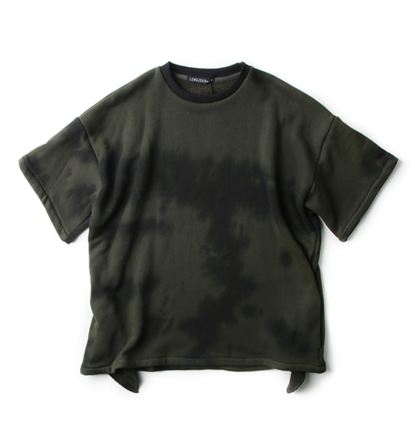 BAGGY T SHIRT DARK GREEN NIGHT PRINT(LJFW1718)