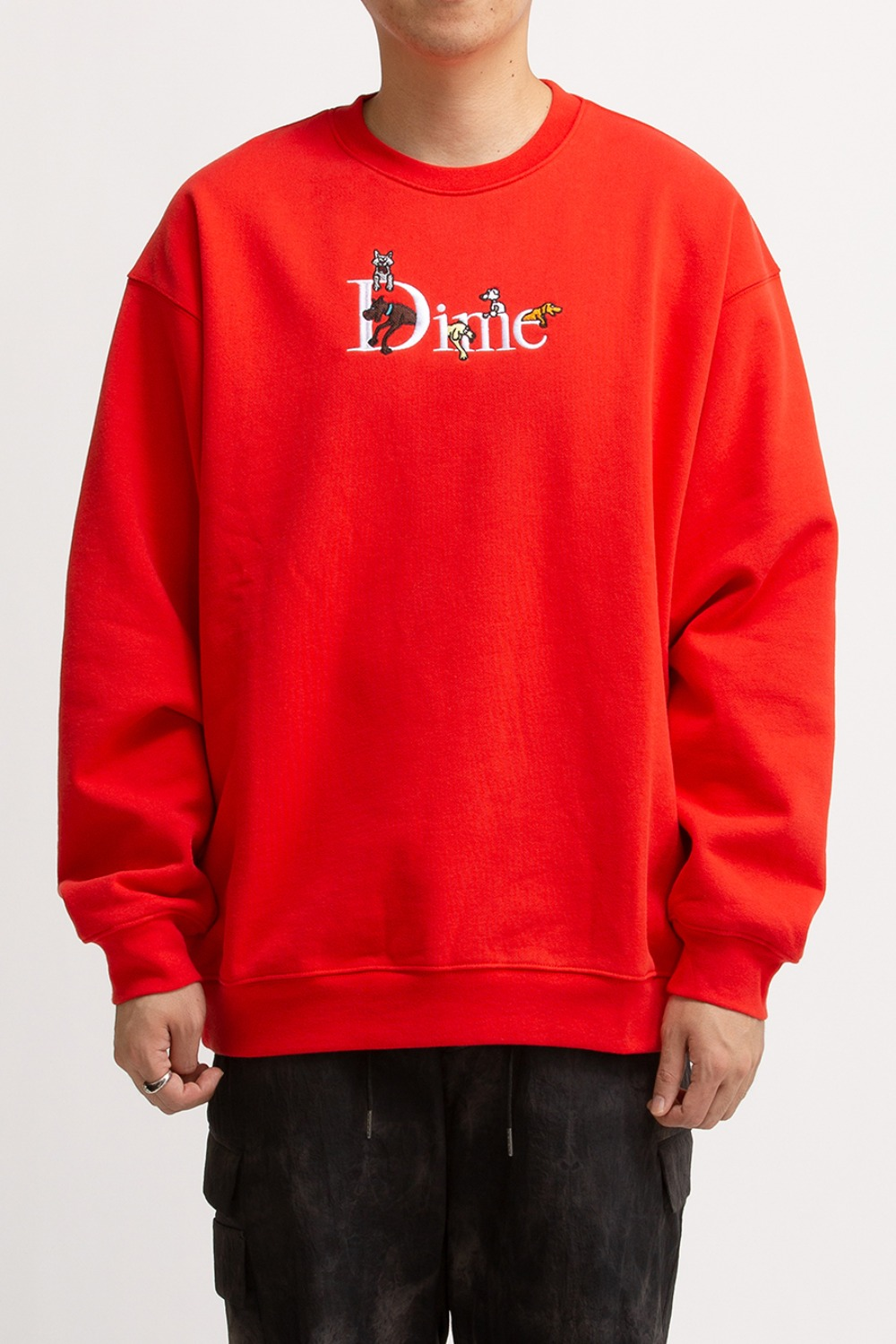 DOG CLASSIC LOGO CREWNECK RED