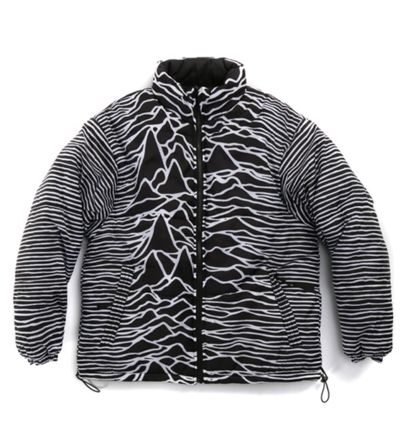 PLEASURES X JOY DIVISION DISORDER PUFFER JACKET BK