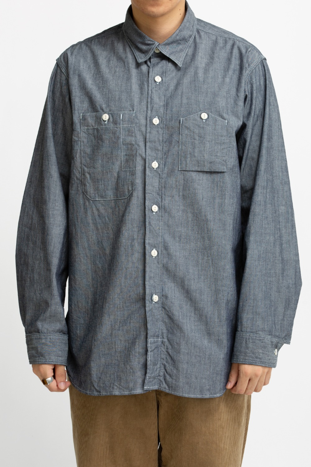 WORK SHIRT INDIGO COTTON CONE CHAMBRAY