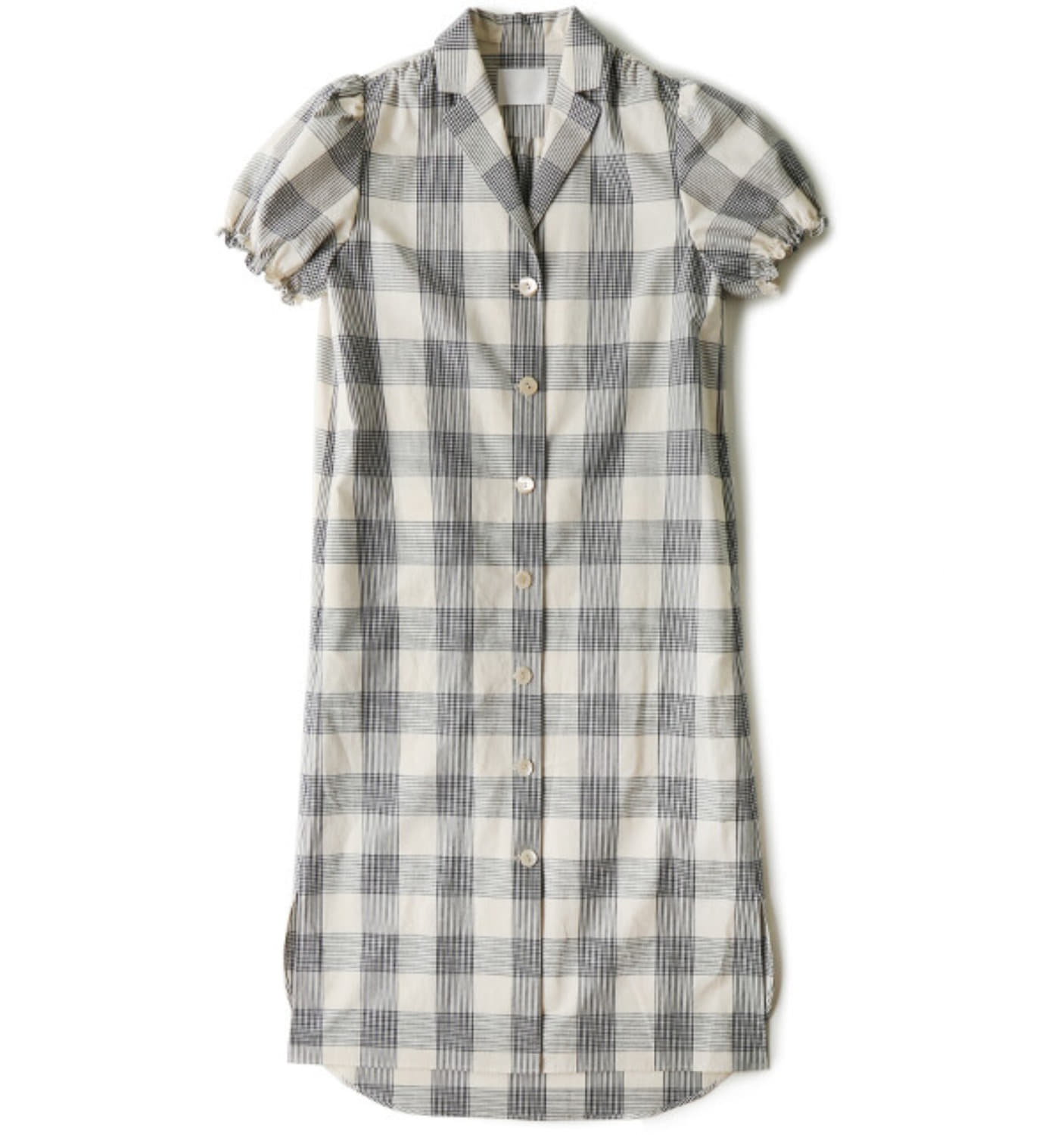 VINTAGE RETRO DRESS INDIGO BIG CHECK