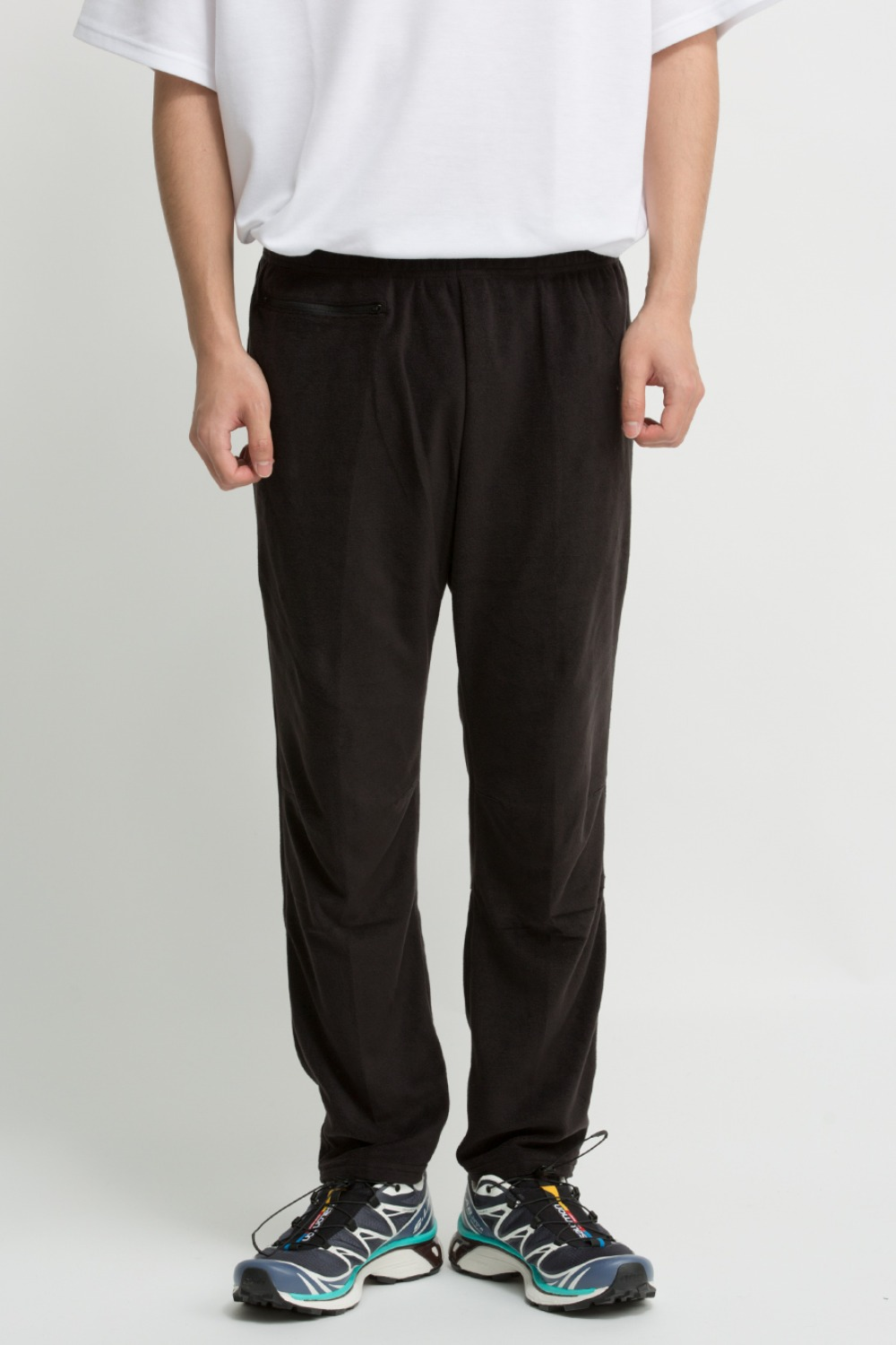 1P CYCLE PANT - POLY FLEECE BLACK