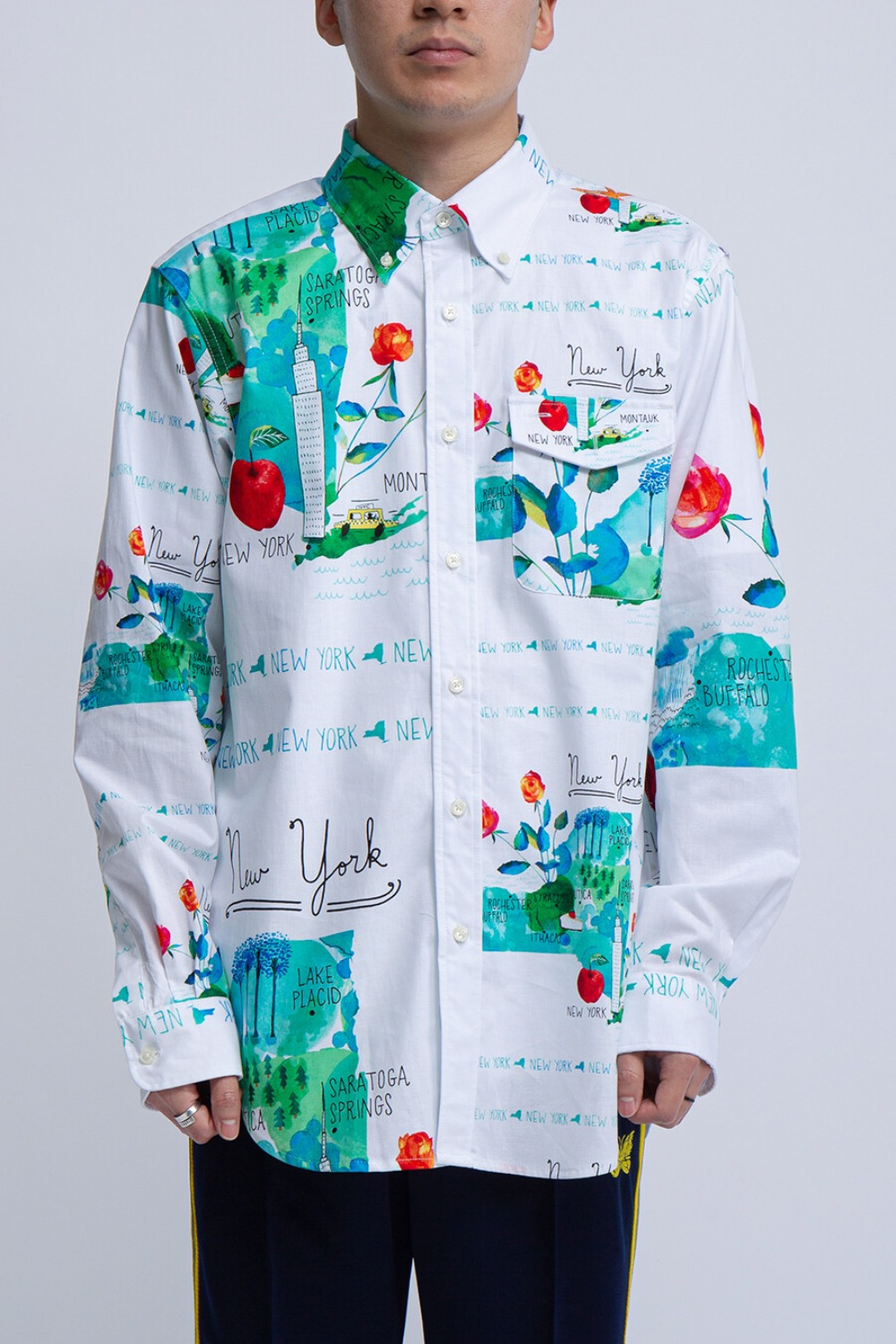 BD SHIRT WHITE NYC COTTON PRINT