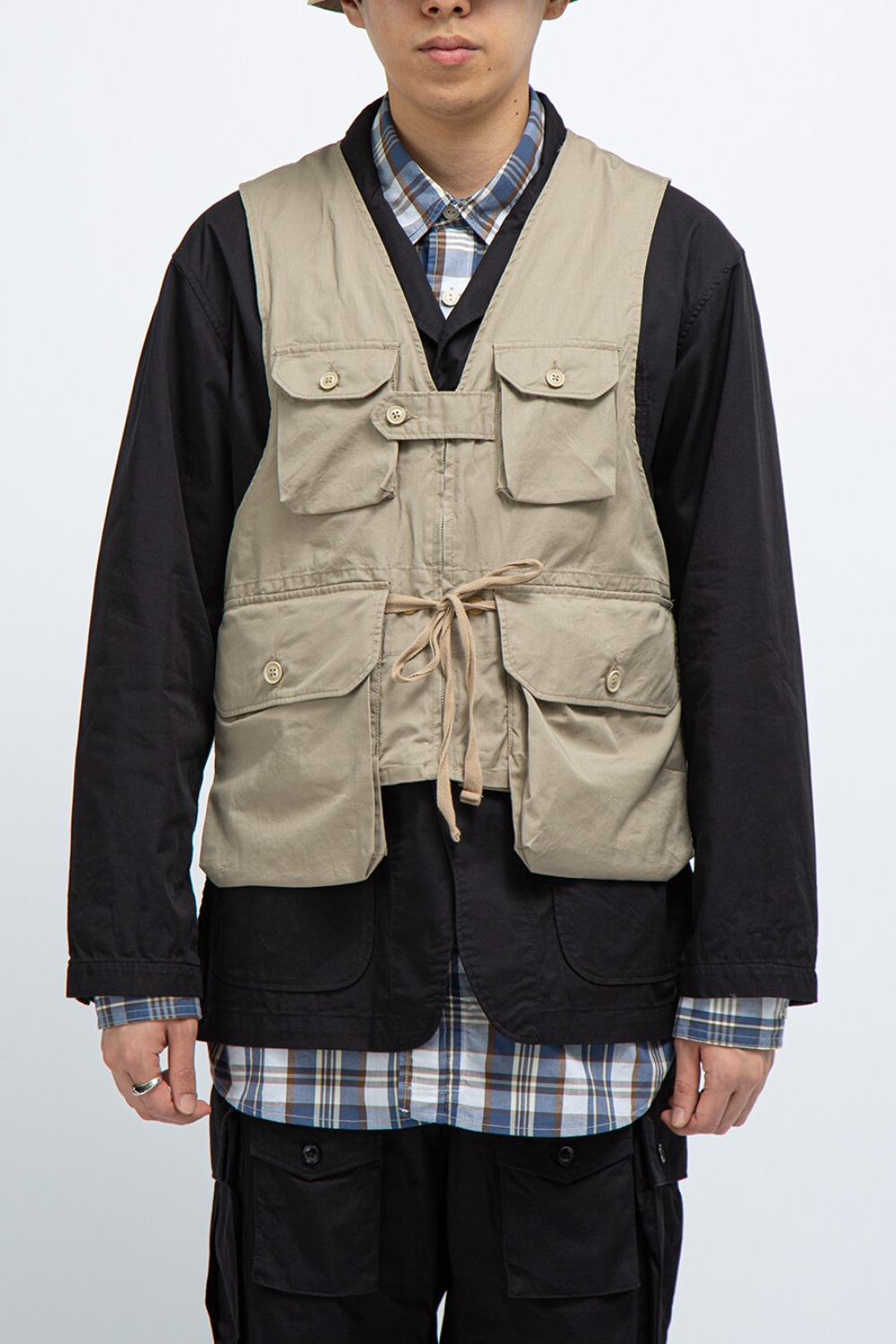 GAME VEST KHAKI HIGHCOUNT TWILL