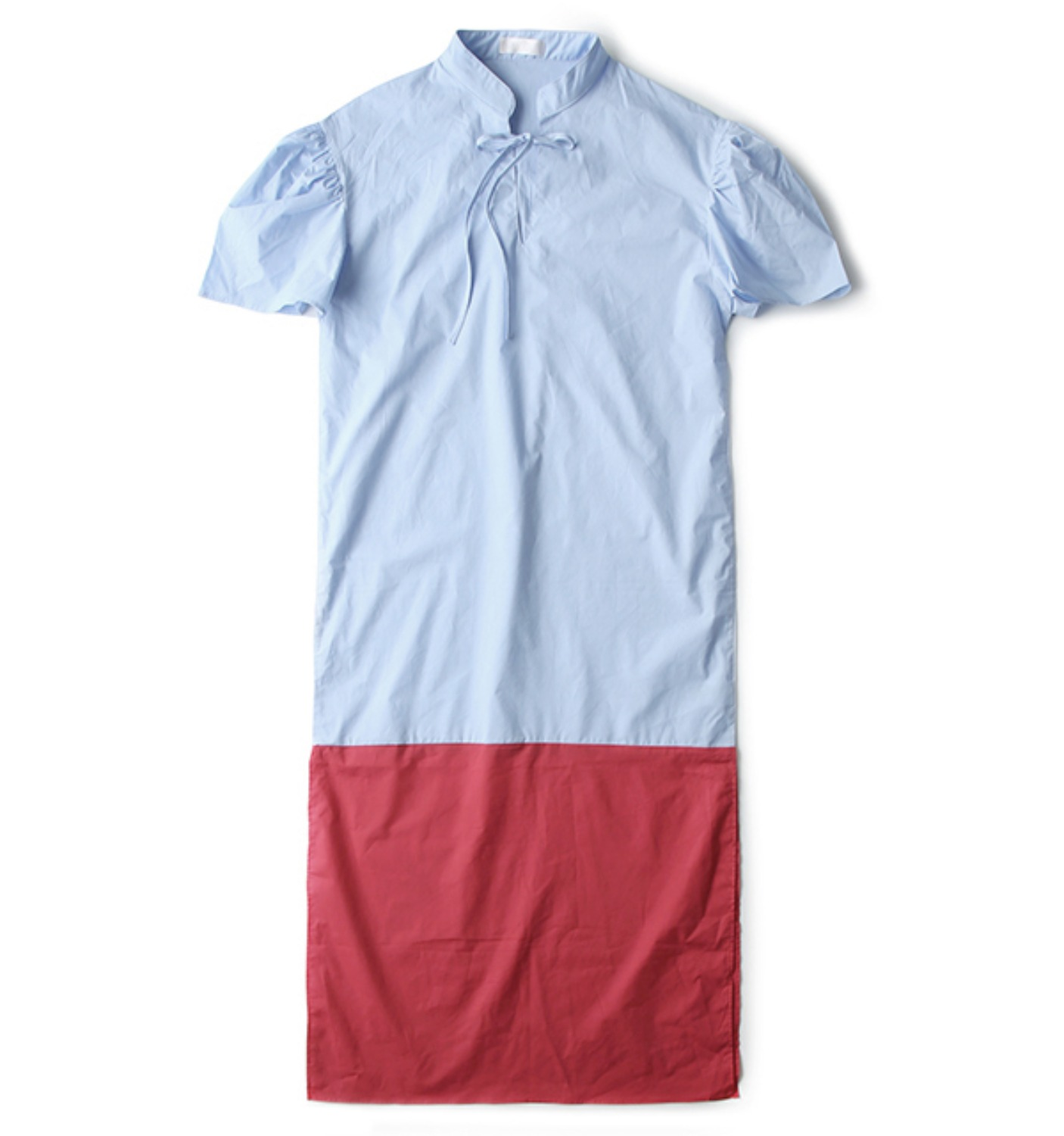 FILLE DRESS SKY BLUE/RED