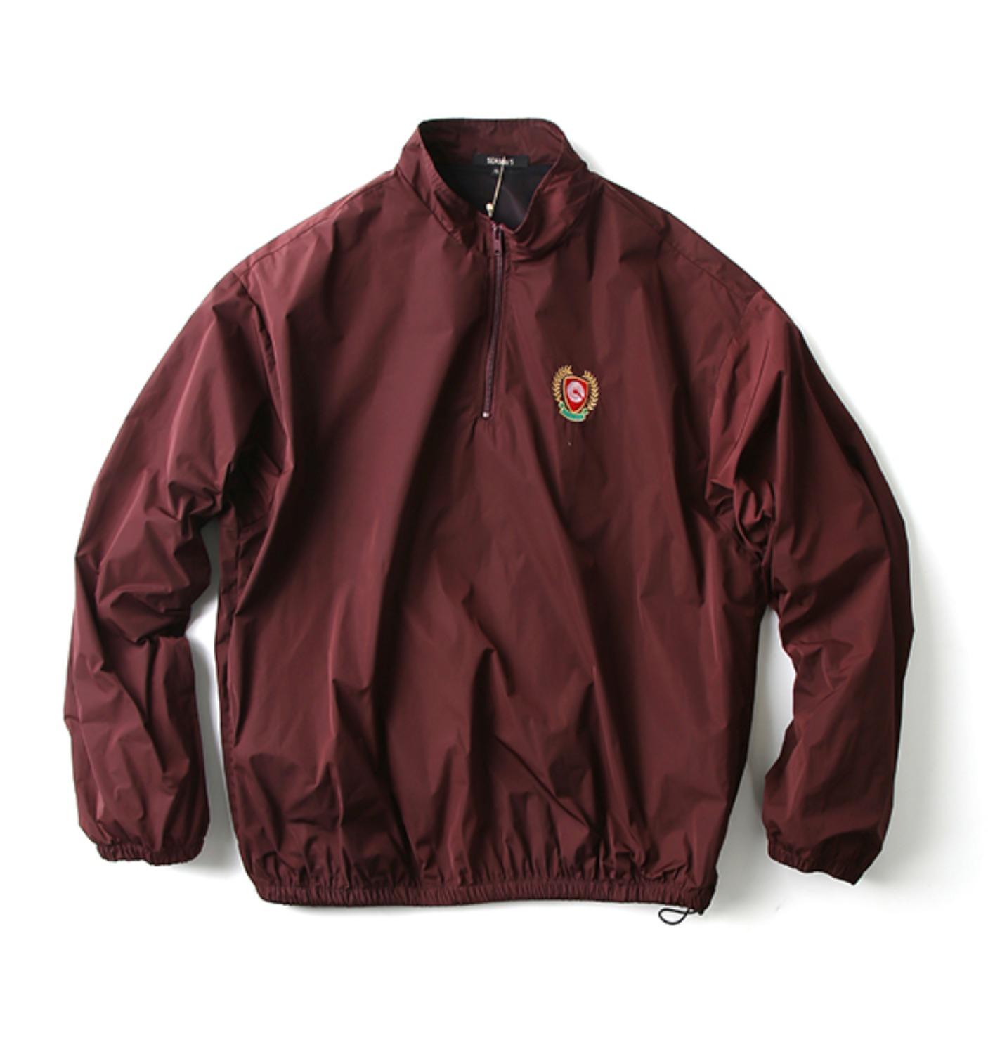 HALF ZIP WINDEBREAKER OXBLOOD(KW5U6045)