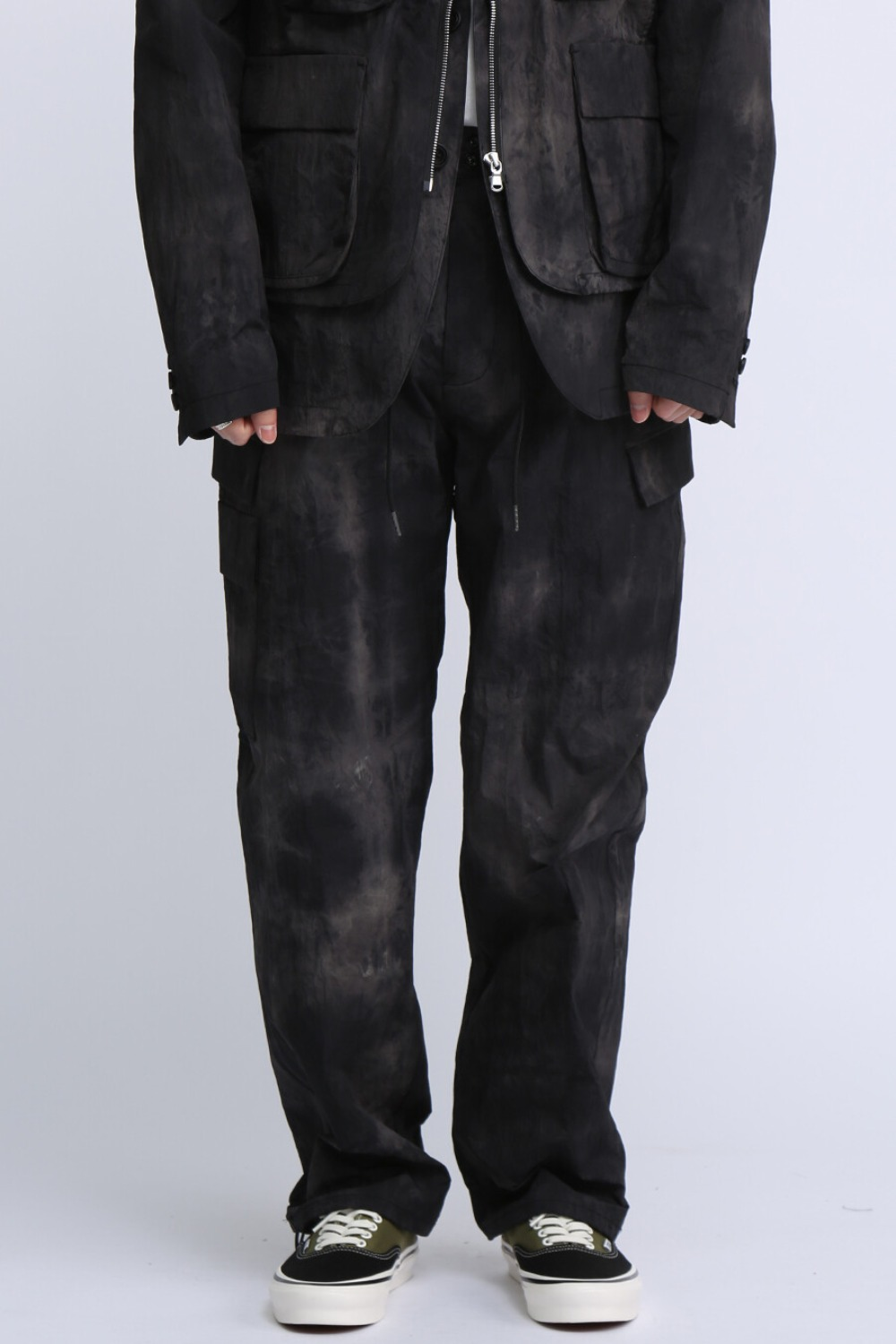 FOR SCULP X UTILITY FLAP POCKETS PANTS BLACK STORM