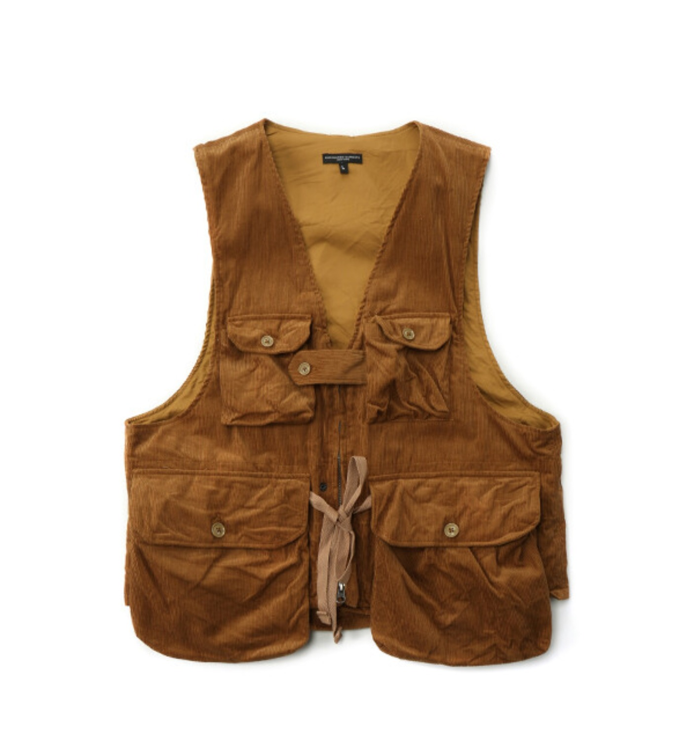 GAME VEST CHESTNUT COTTON 11W CORDUROY