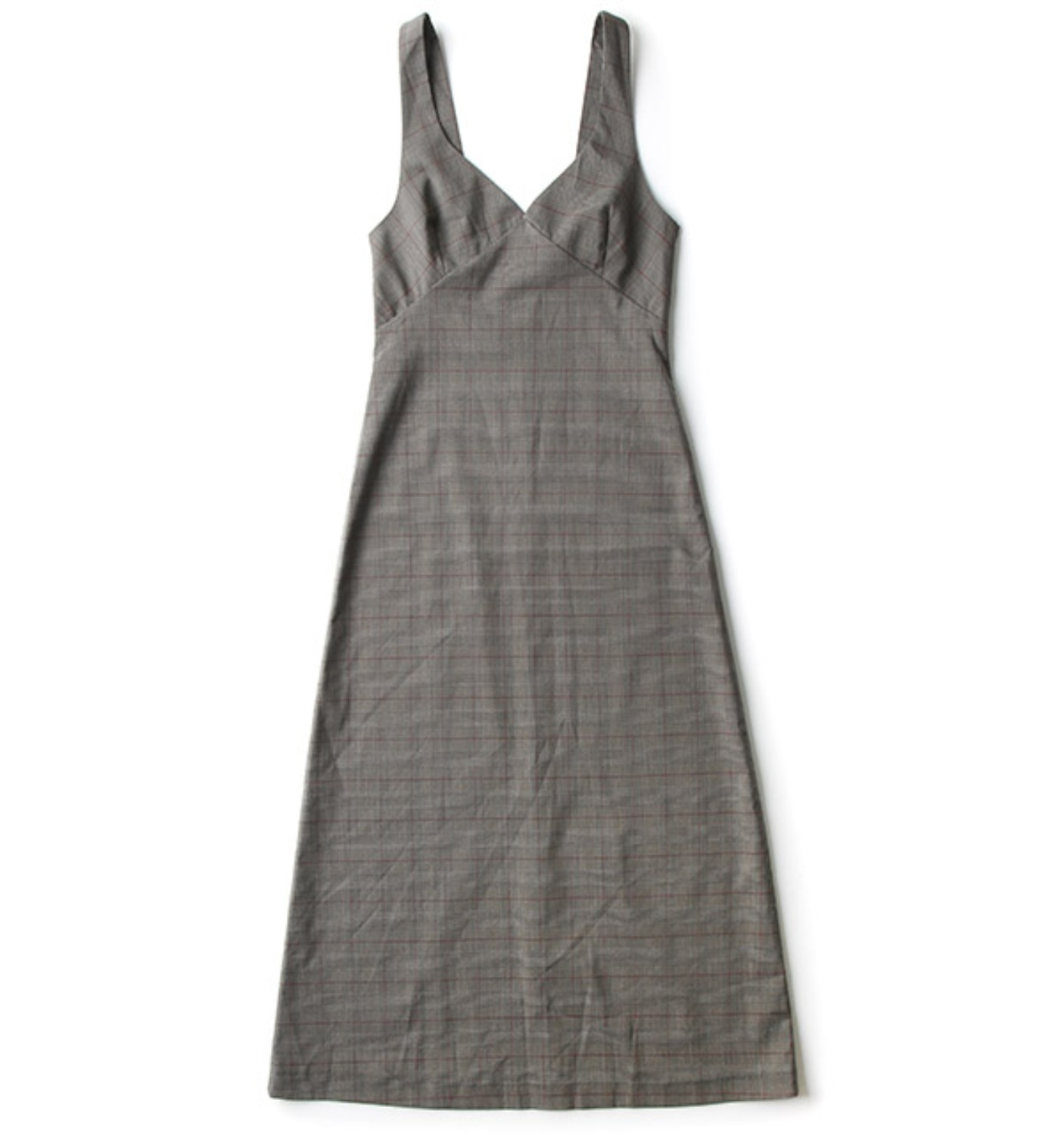 LIEBE SLIP DRESS GLEN CHECK