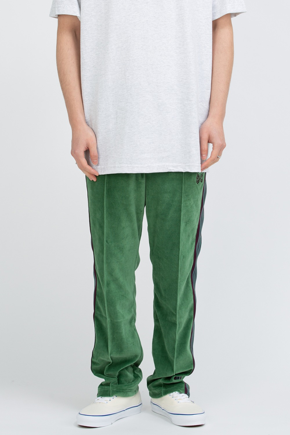 NARROW TRACK PANT - C/PE VELOUR GREEN