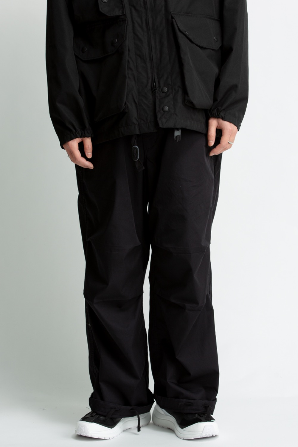 OVER PANT BLACK HIGH COUNT TWILL