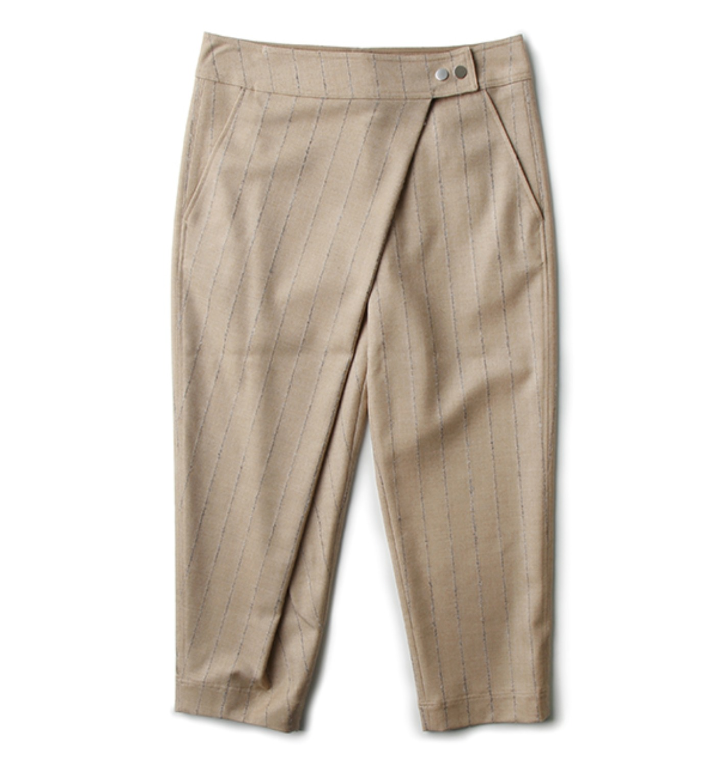 PRUSSO STRIPED TROUSERS BEIGE