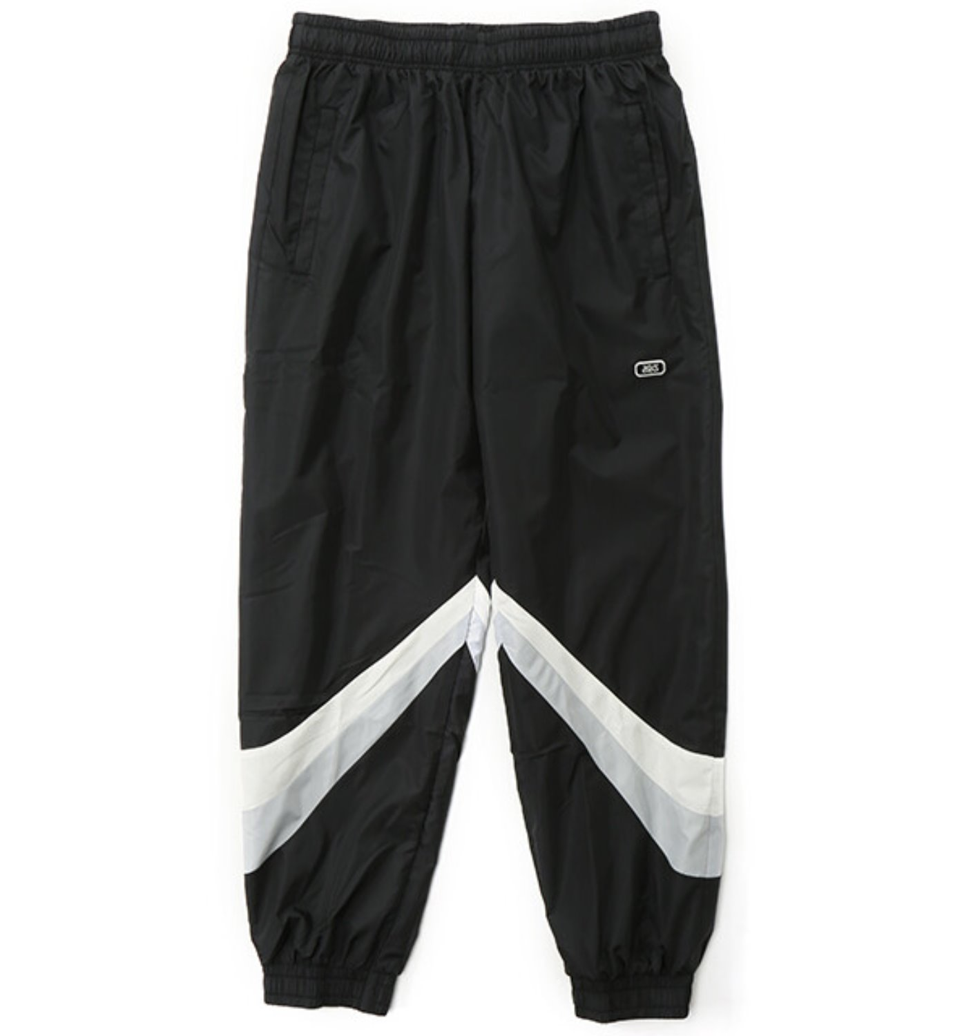 COLOR BLOCK WOVEN TRAINER PANT BLACK