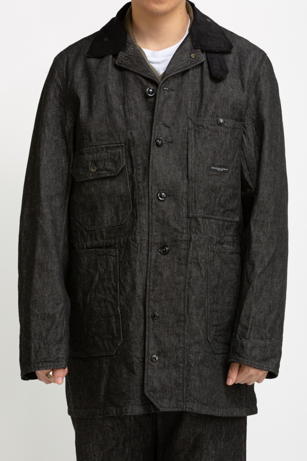 LONG LOGGER JACKET BLACK 12OZ CONE DENIM