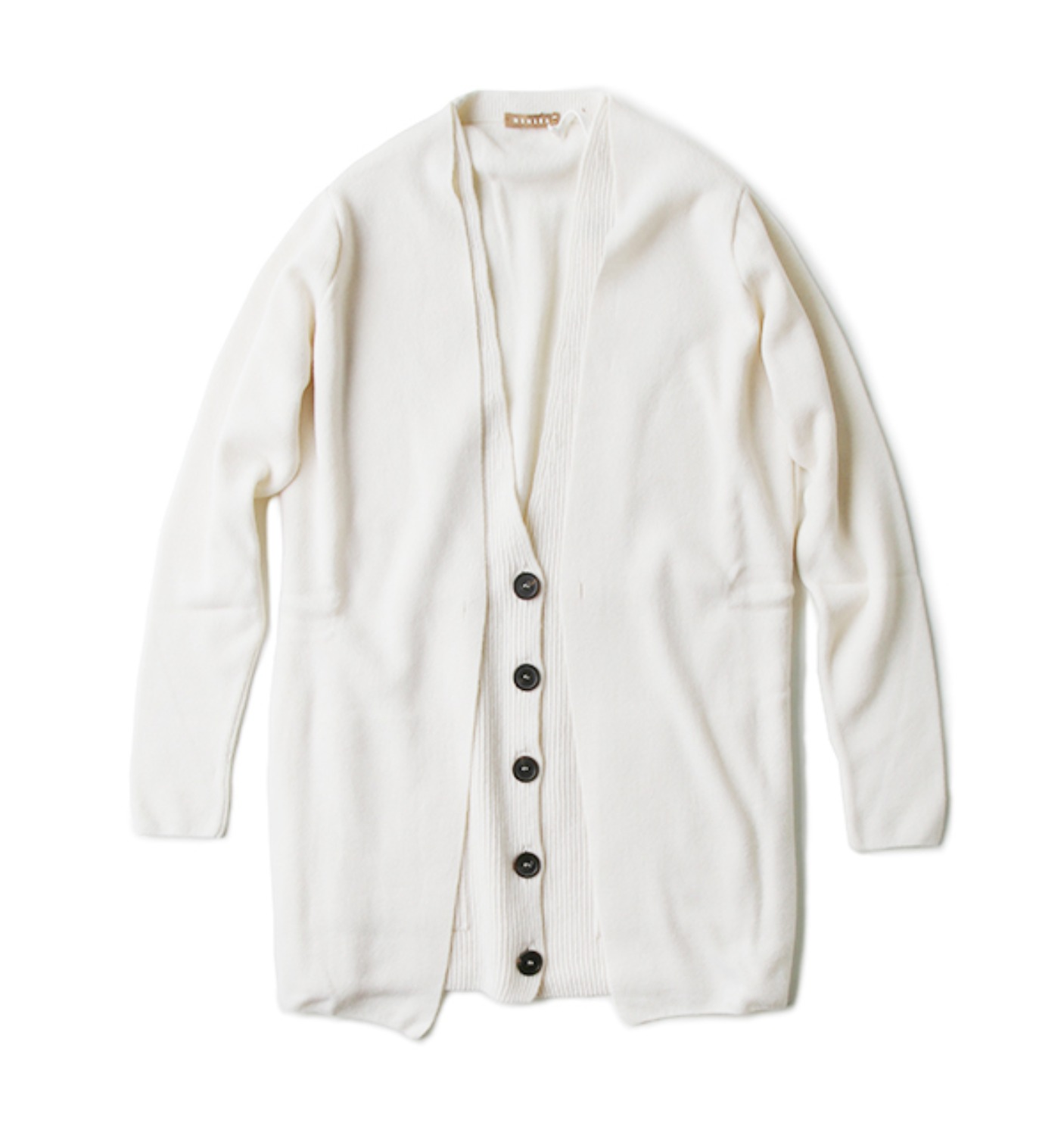 k1208 double layered cardigan LIGHT IVORY