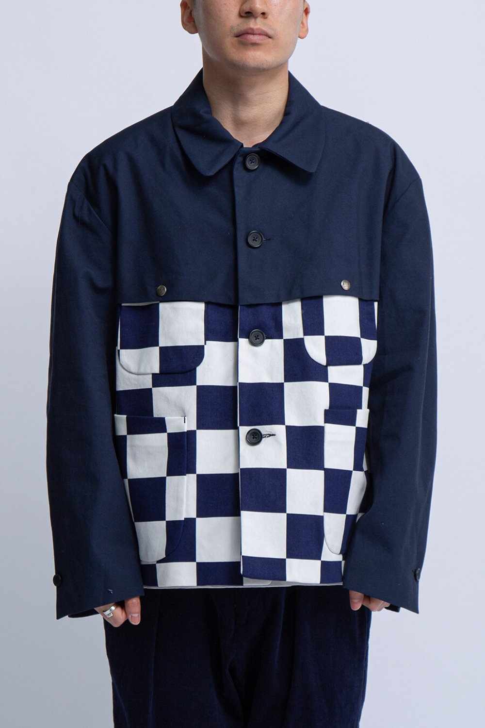 THT JACKET NAVY/WHITE 9oz CHECKER