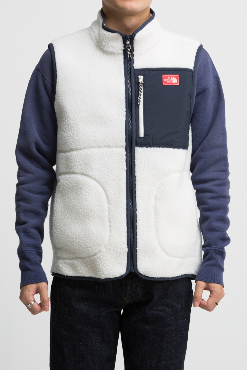 EXPLORER FLEECE VEST (NV4FL53C) IVORY