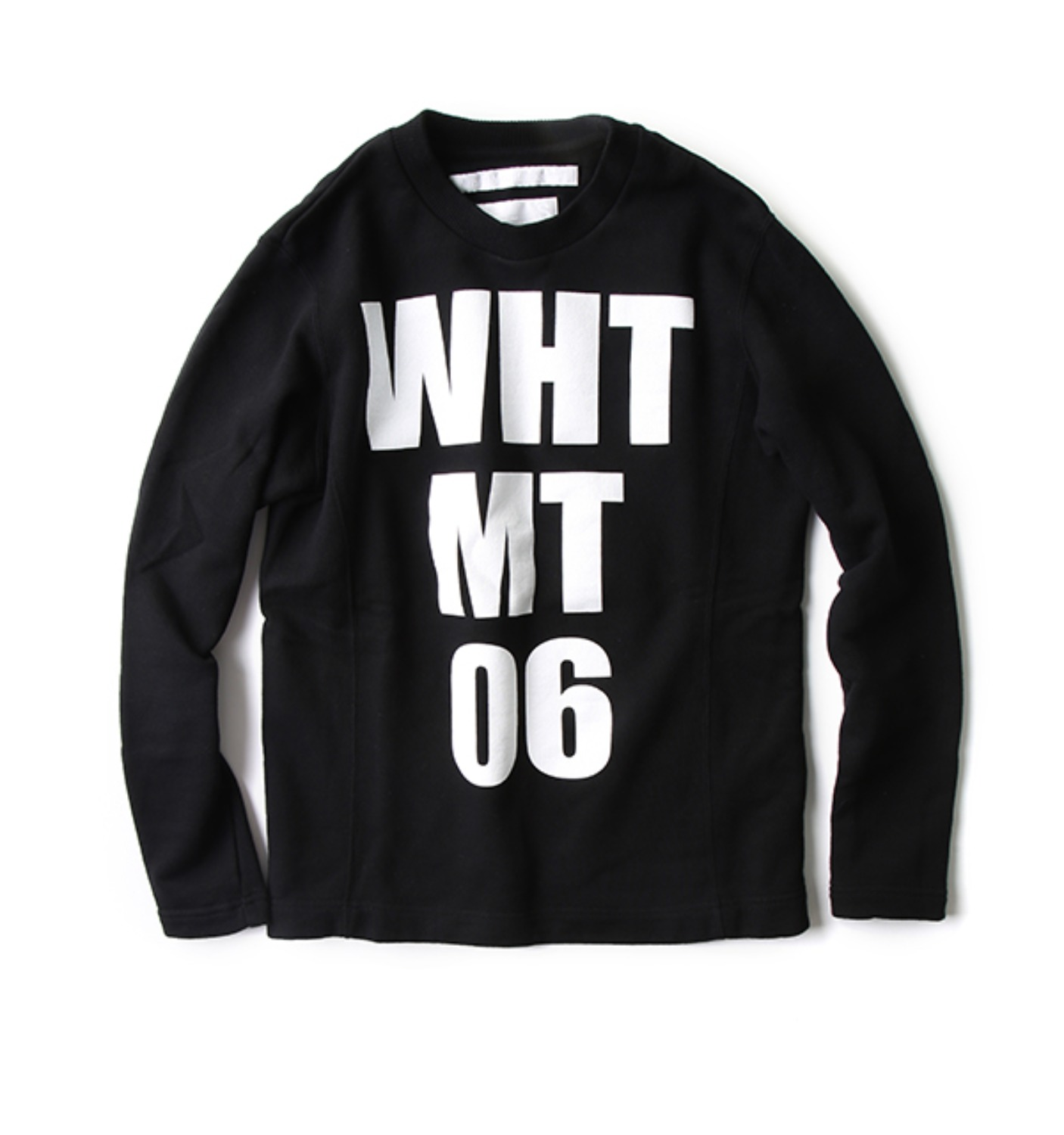 FLEECE LINING CONTRASTEDPRINTED LOGO SWEATSHIRT BLACK (WL1673514)