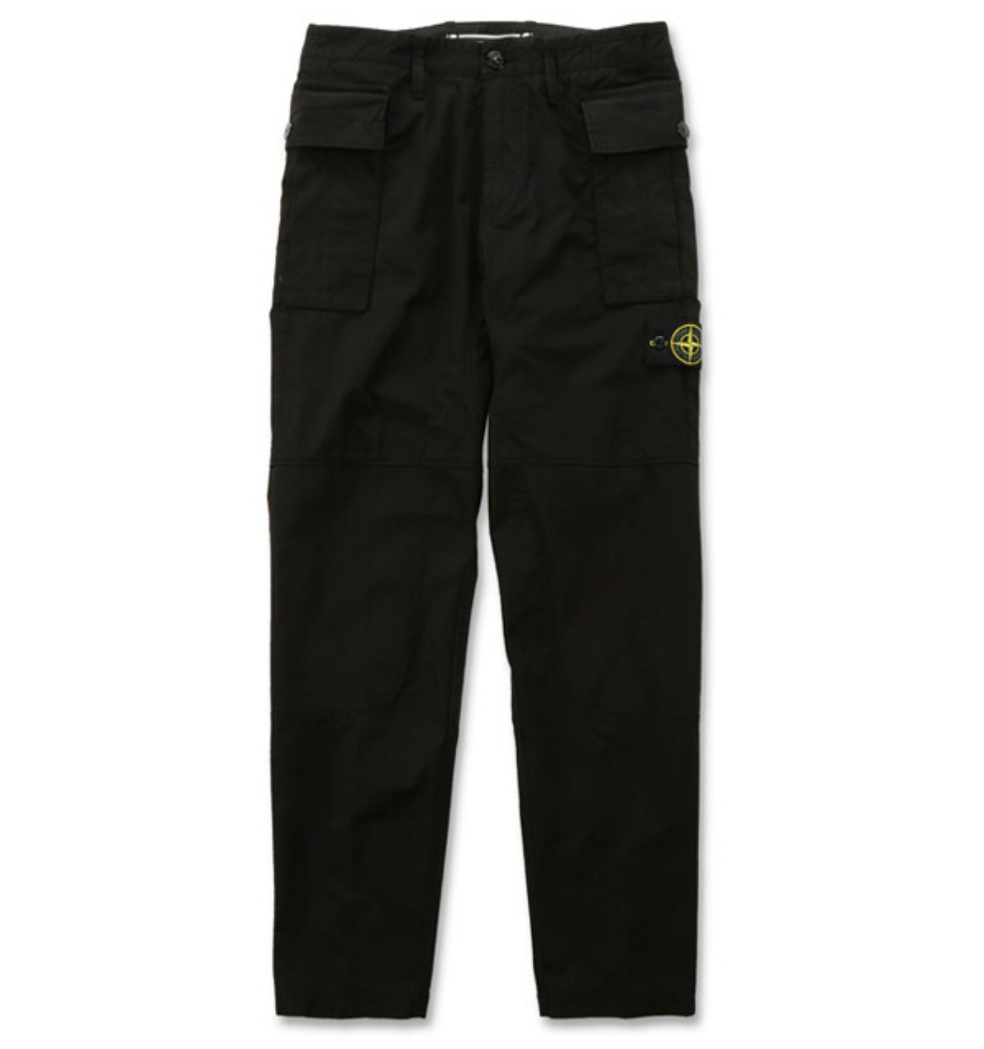 GAUZED COTTON RIP STOP GARMENT DYED PANTS BLACK