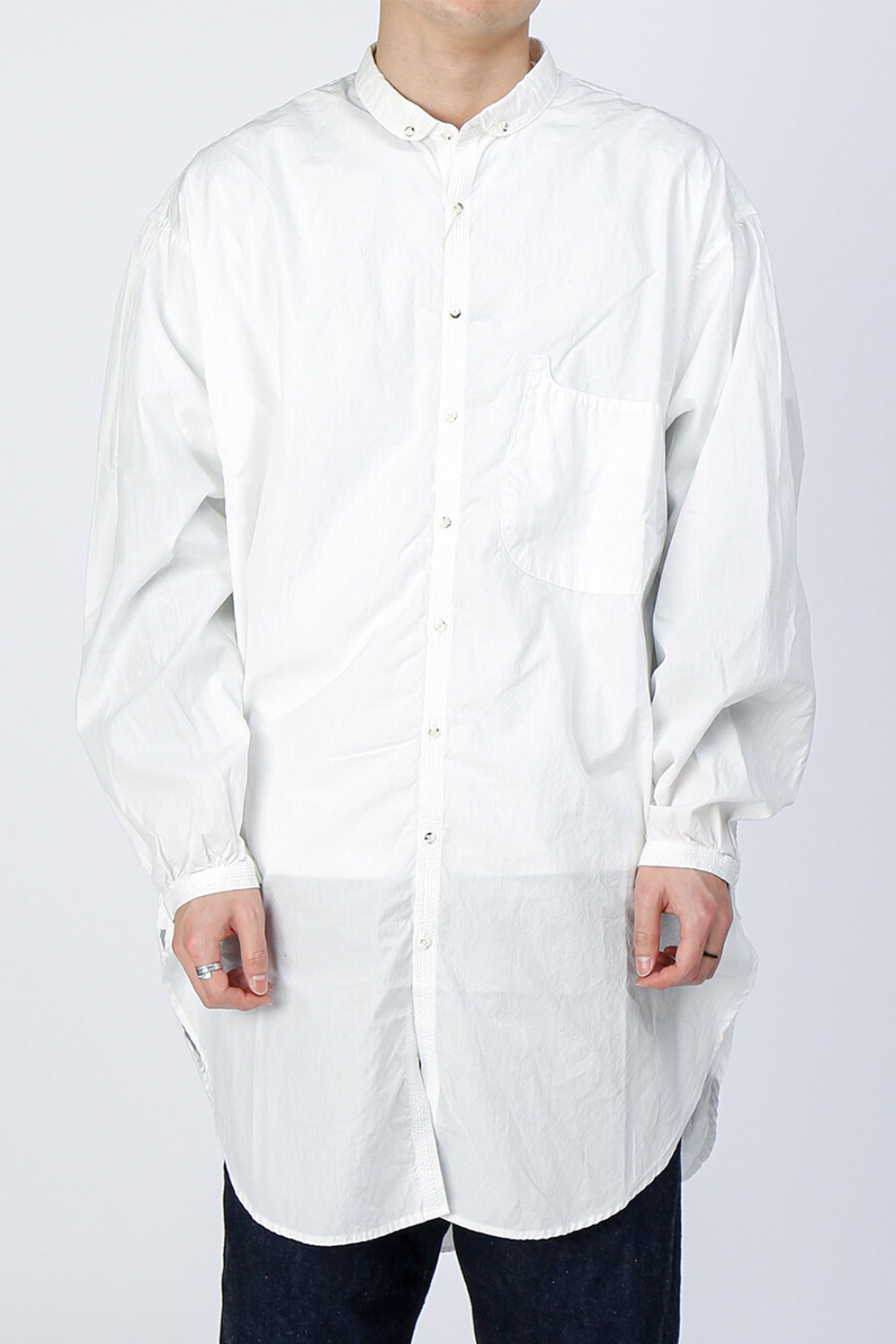 BROAD CLOTH BD GIANT SHIRT WHITE