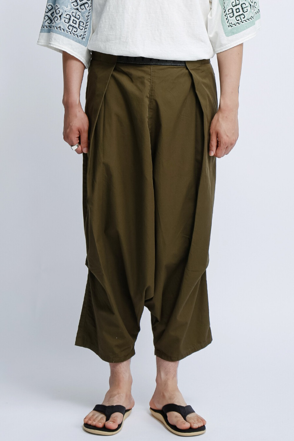 COMA BURBERRY COTTON EASY BEACH GO SALEL PANTS OLIVE