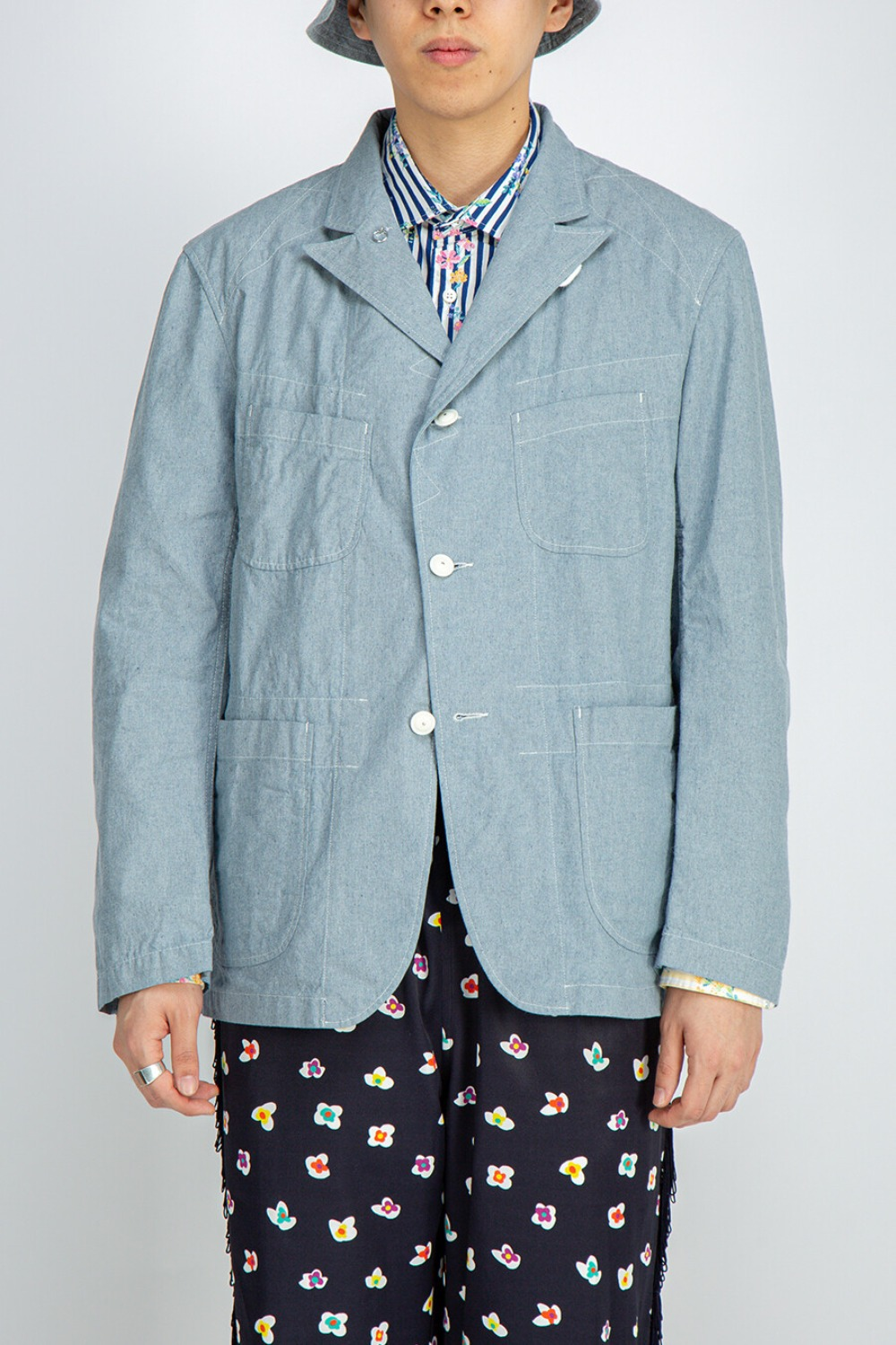 BEDFORD JACKET UPCYCLED CHAMBRAY BLUE