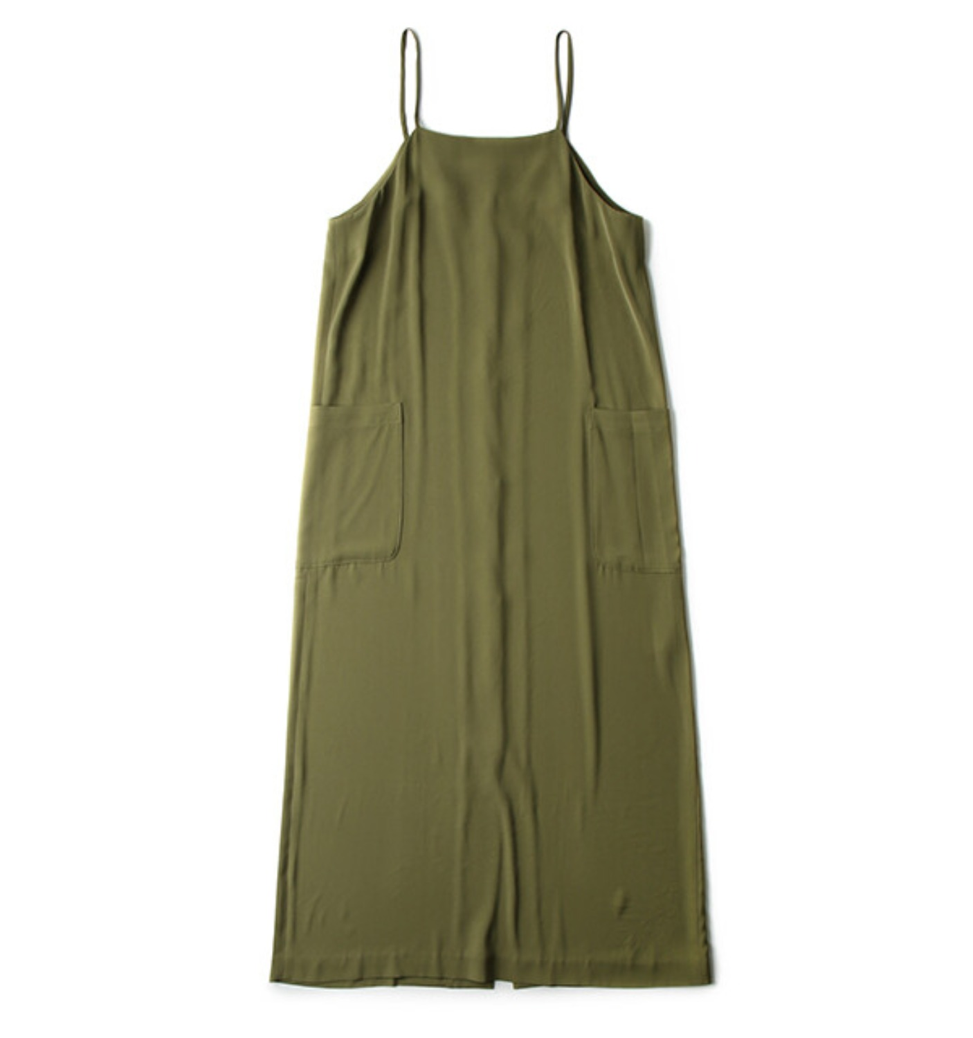 SLIP DRESS GREEN OLIVE(DR05)