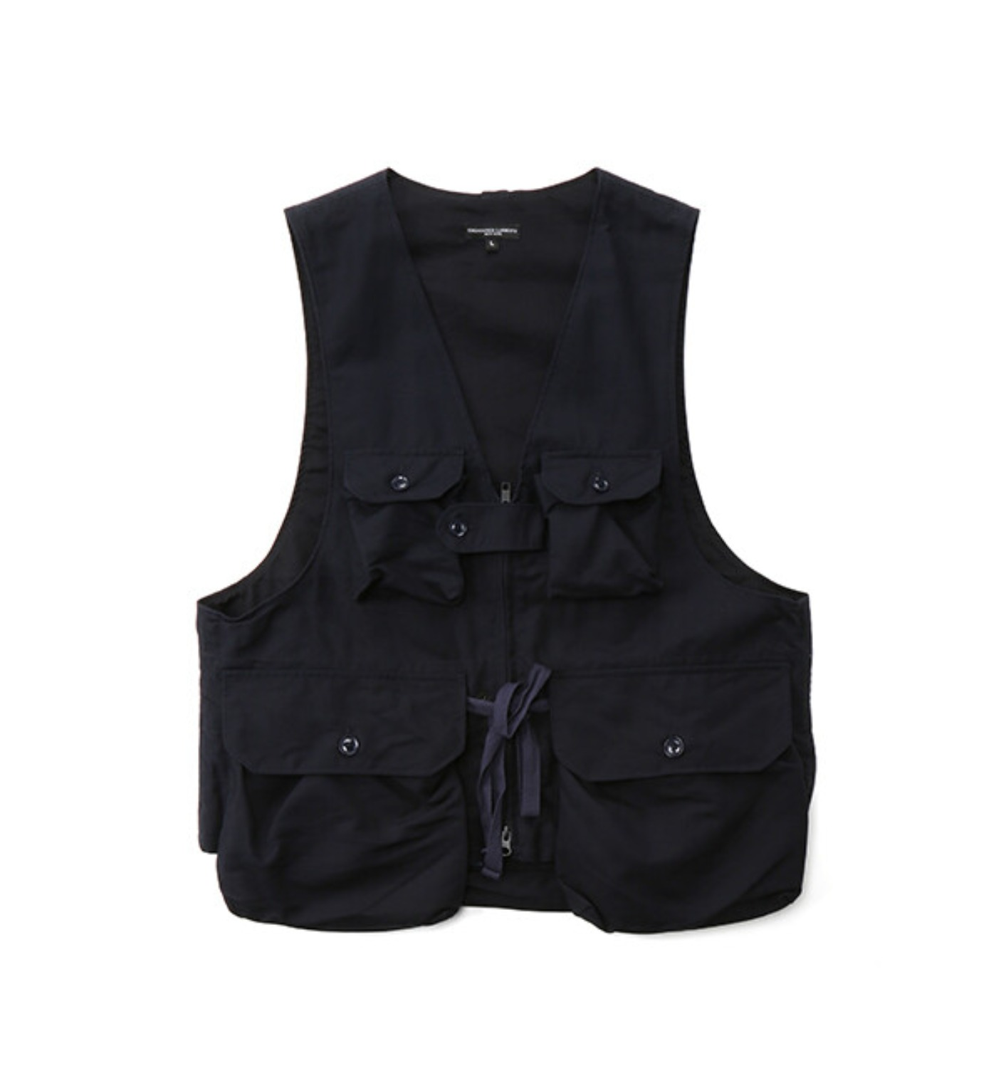 GAME VEST NAVY COTTON DOUBLE CLOTH