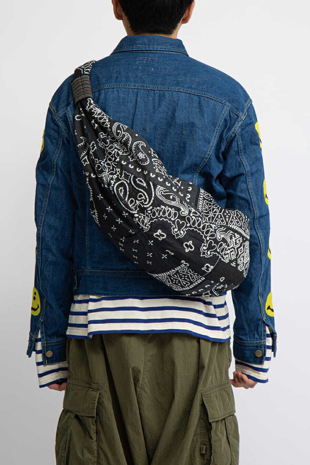 GAUZE BANDANA BEACH SNUFKIN BAG(EK-911) BLACK