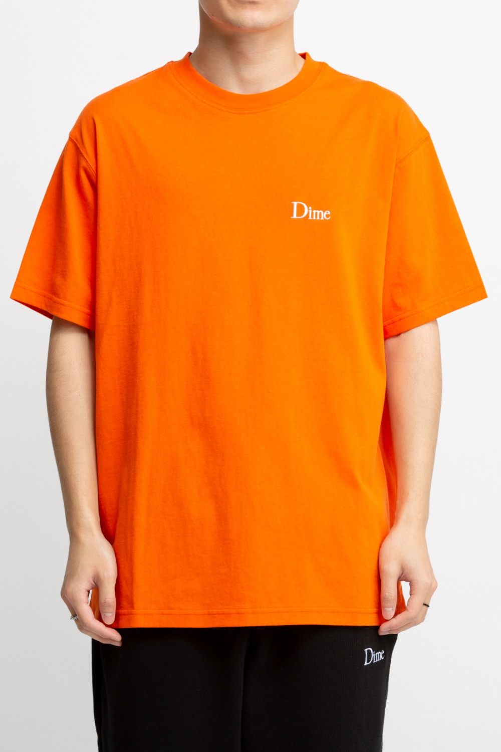DIME CLASSIC SMALL LOGO T-SHIRT ORANGE