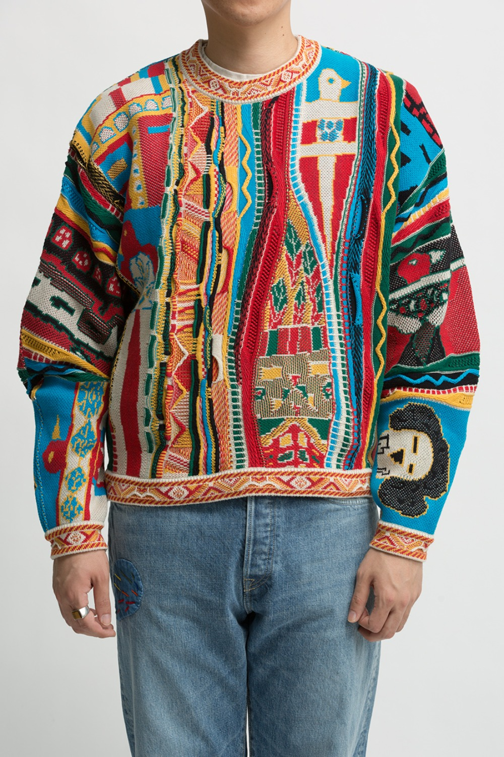 7G KACHINA GAUDY CREW SWEATER(EK-985)