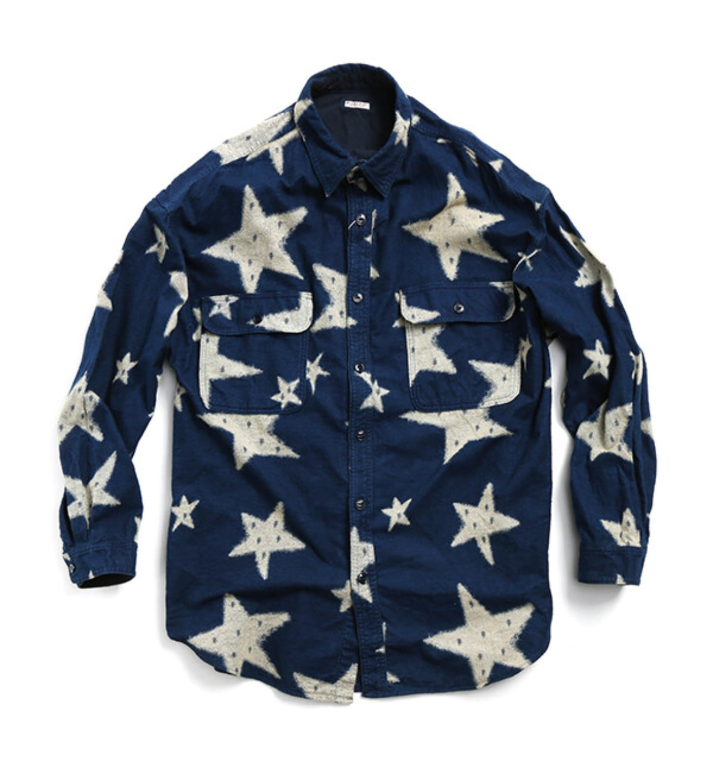 IDG FLANNEL STAR GRANDE WORK SHIRT INDIGO