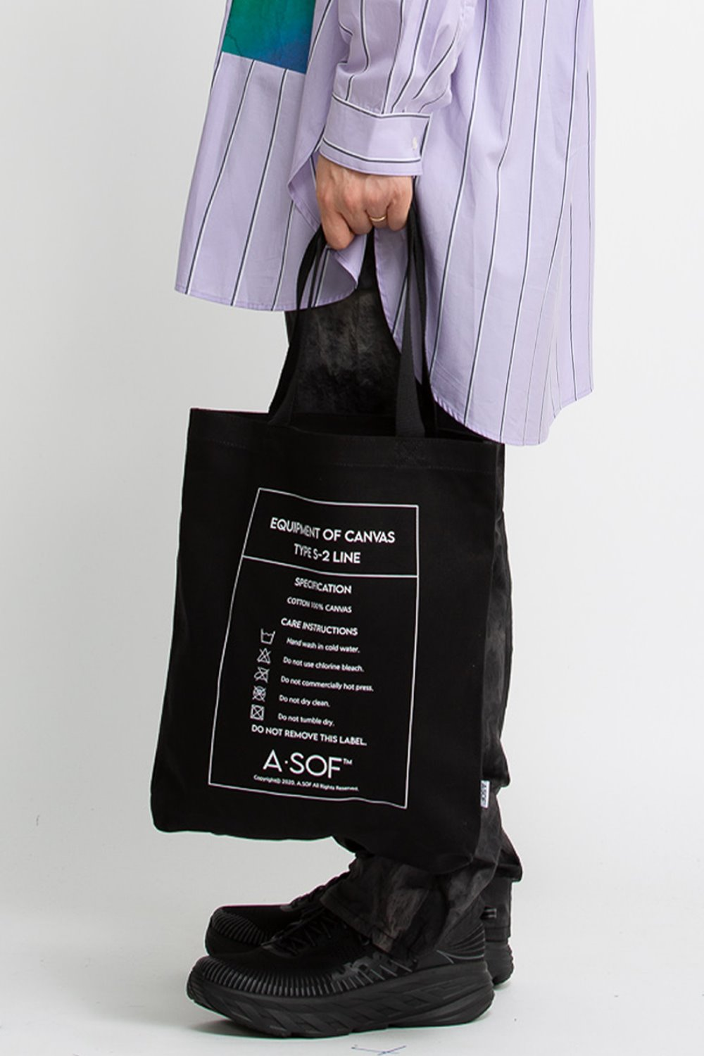 TEXT ECO BAG BLACK