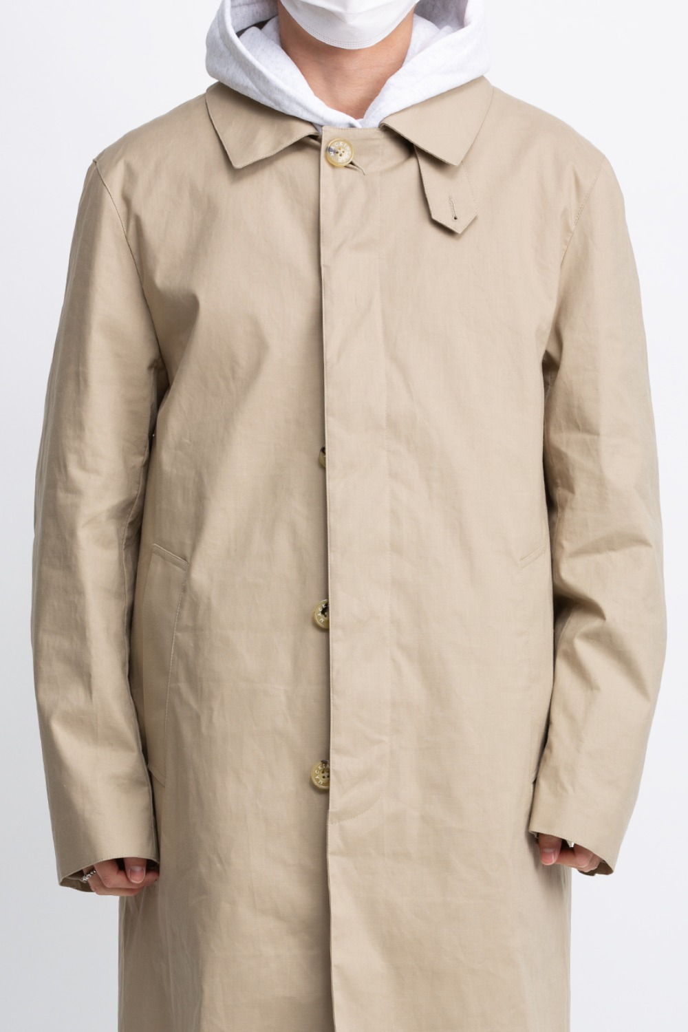 DUNKELD RAINTEC COTTON 3/4 COAT BEIGE