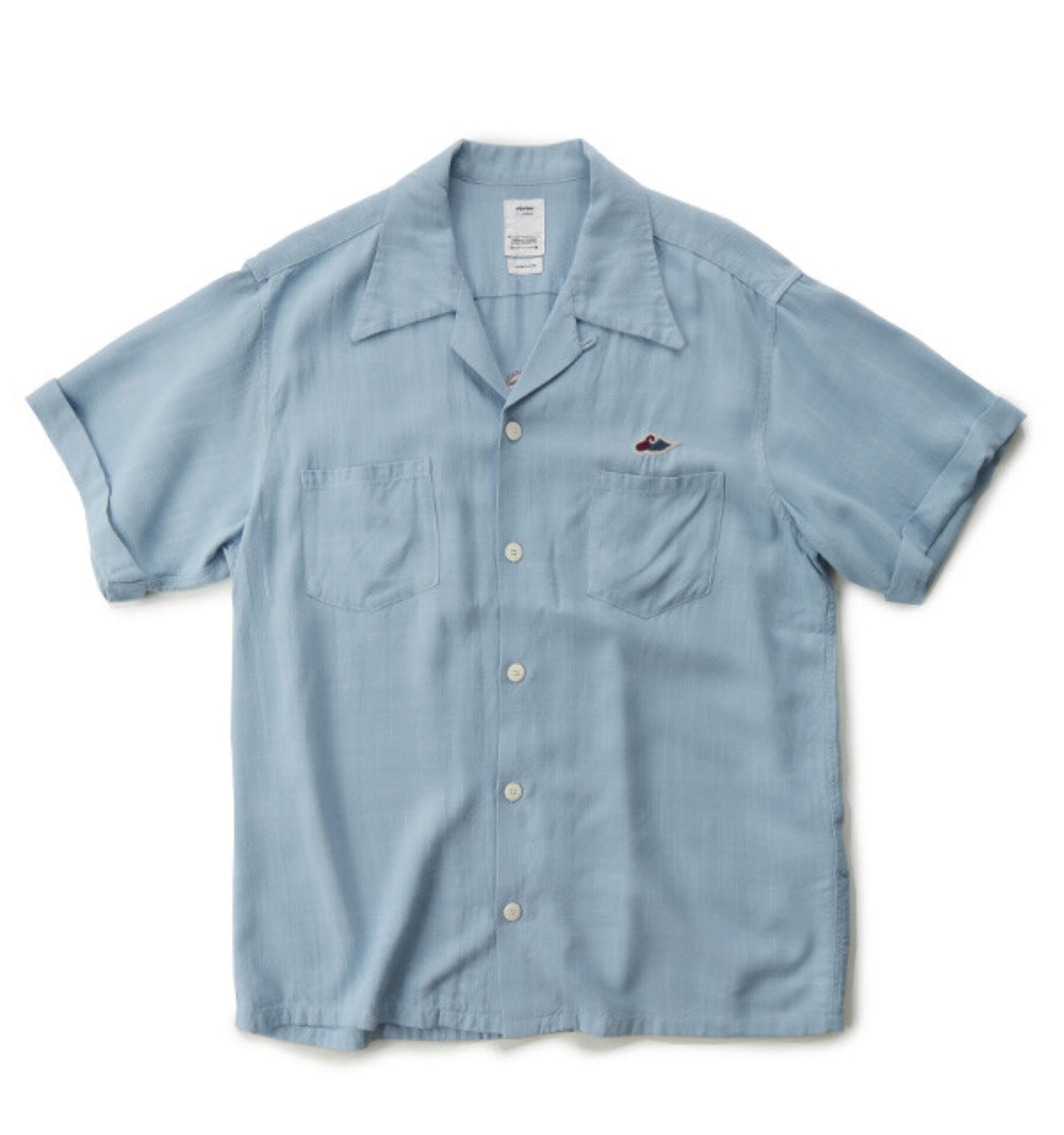 IRVING SHIRT S/S (SL RAYON) LIGHT BLUE