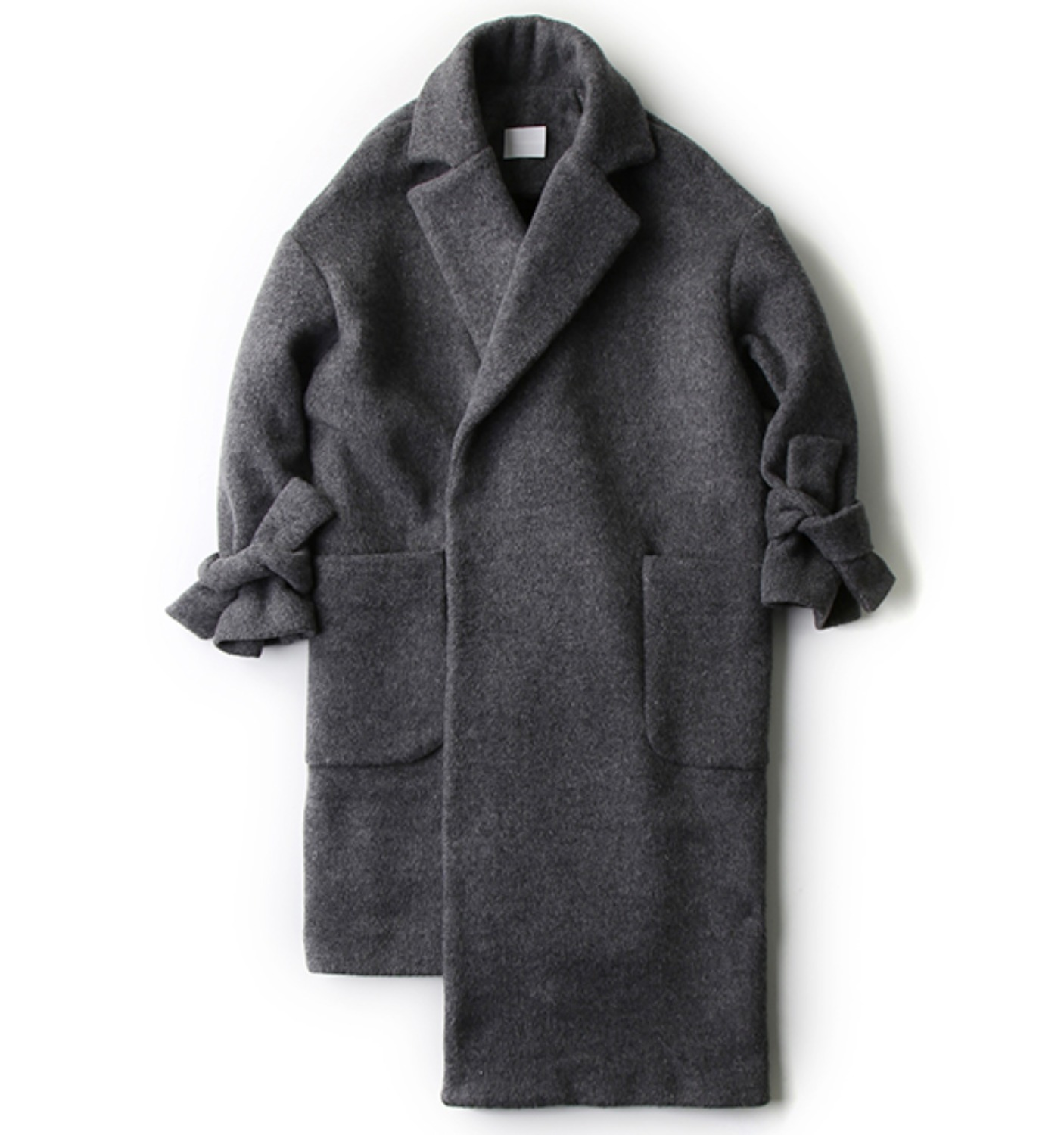 NATHAN COAT HEATHER GREY