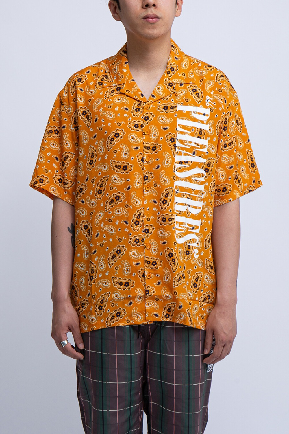 ANDY RAYON BUTTON DOWN SHIRT YELLOW