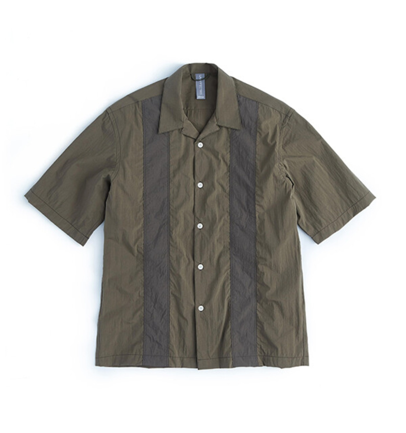 COLOR BLOCKED SHIRT OLIVE