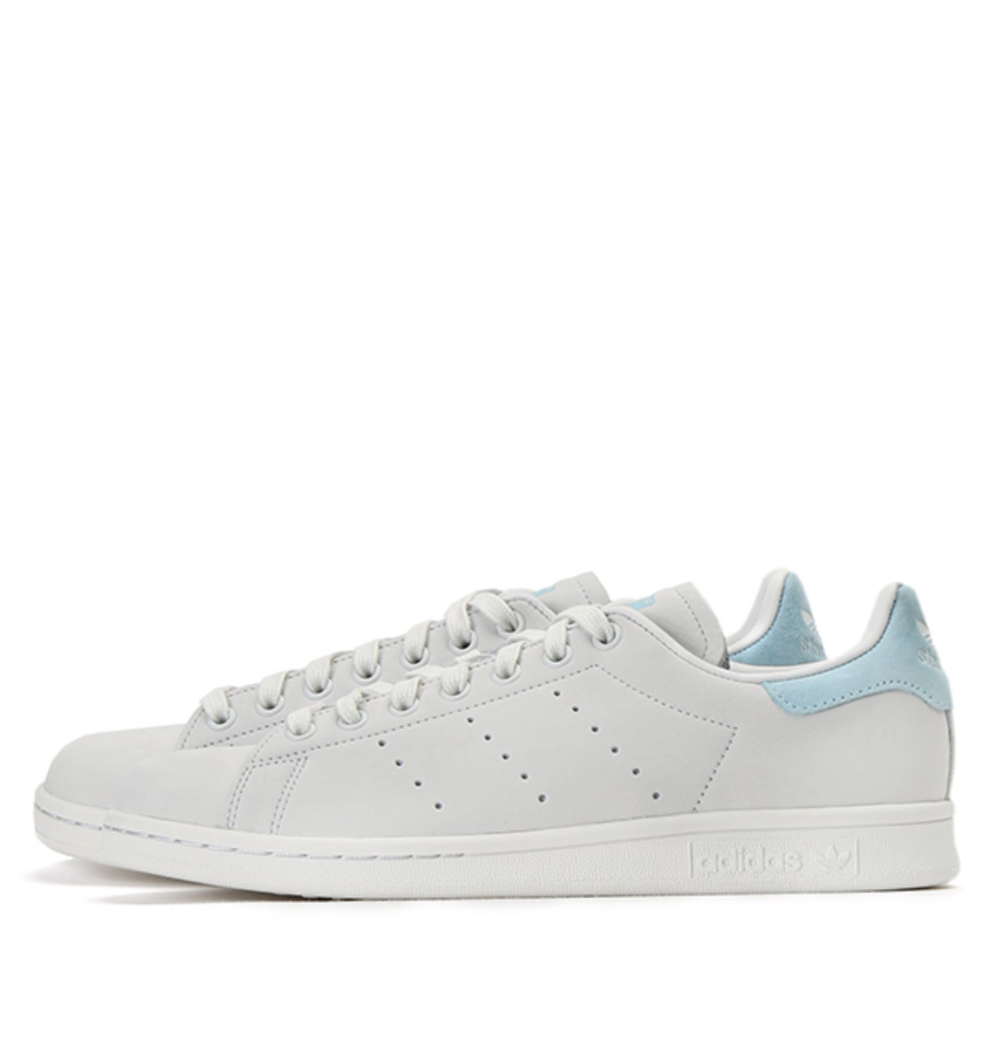 STAN SMITH W CRYSTAL WHITE/ICEY BLUE(BZ0390)