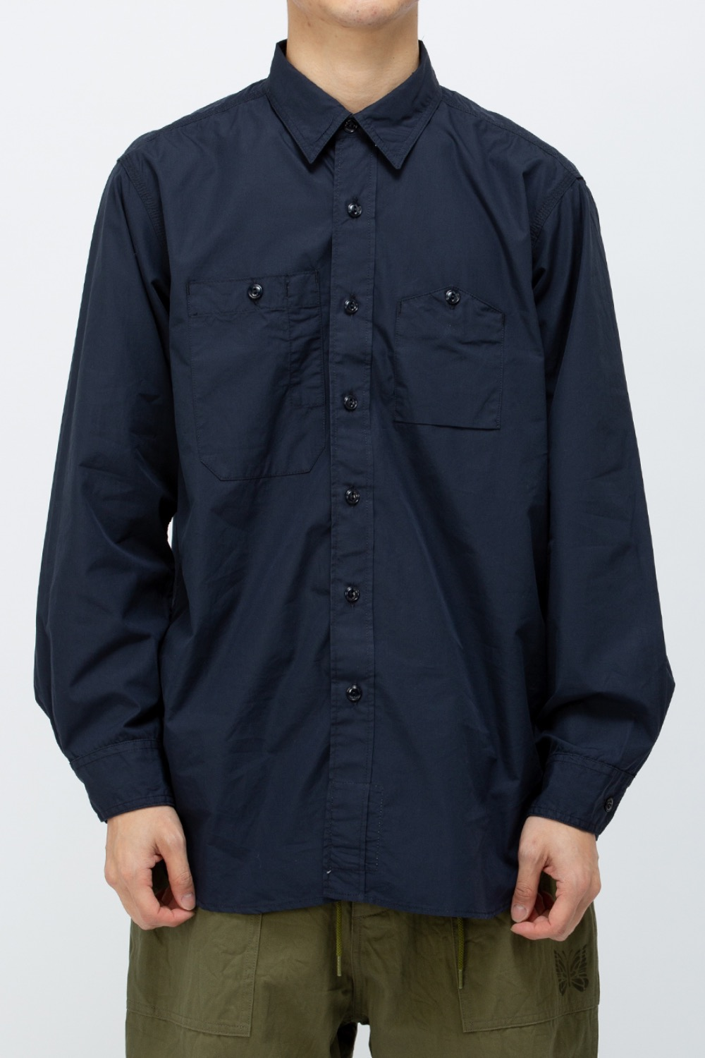 WORK SHIRT 100's 2PLY BROADCLOTH DARK NAVY