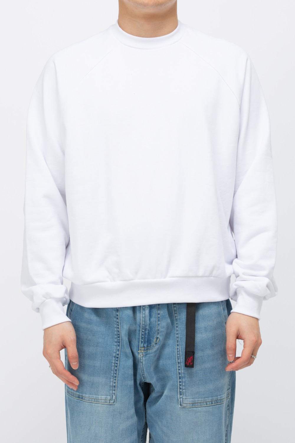 HEAVY WEIGHT OVERSIZE SWEATSHIRT(PREMIUM BASIC) WHITE